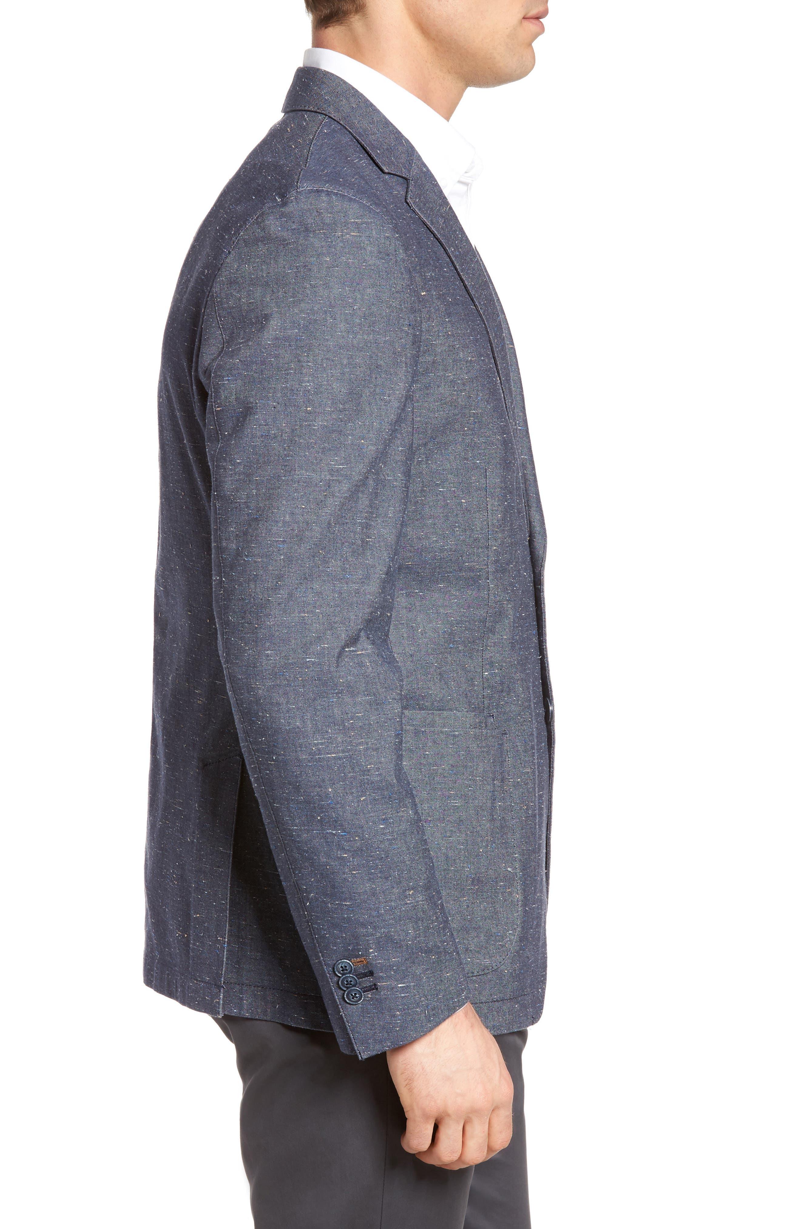 Draper Herringbone Sport Coat,                             Alternate thumbnail 3, color,                             420