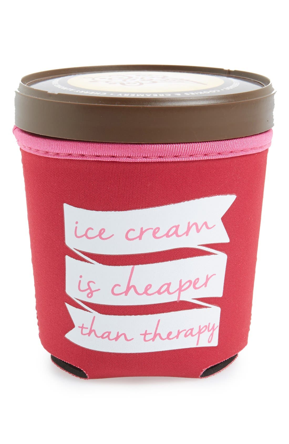 'Ice Cream Is Cheaper Than Therapy' Ice Cream Pint Huggy,                             Main thumbnail 1, color,                             600