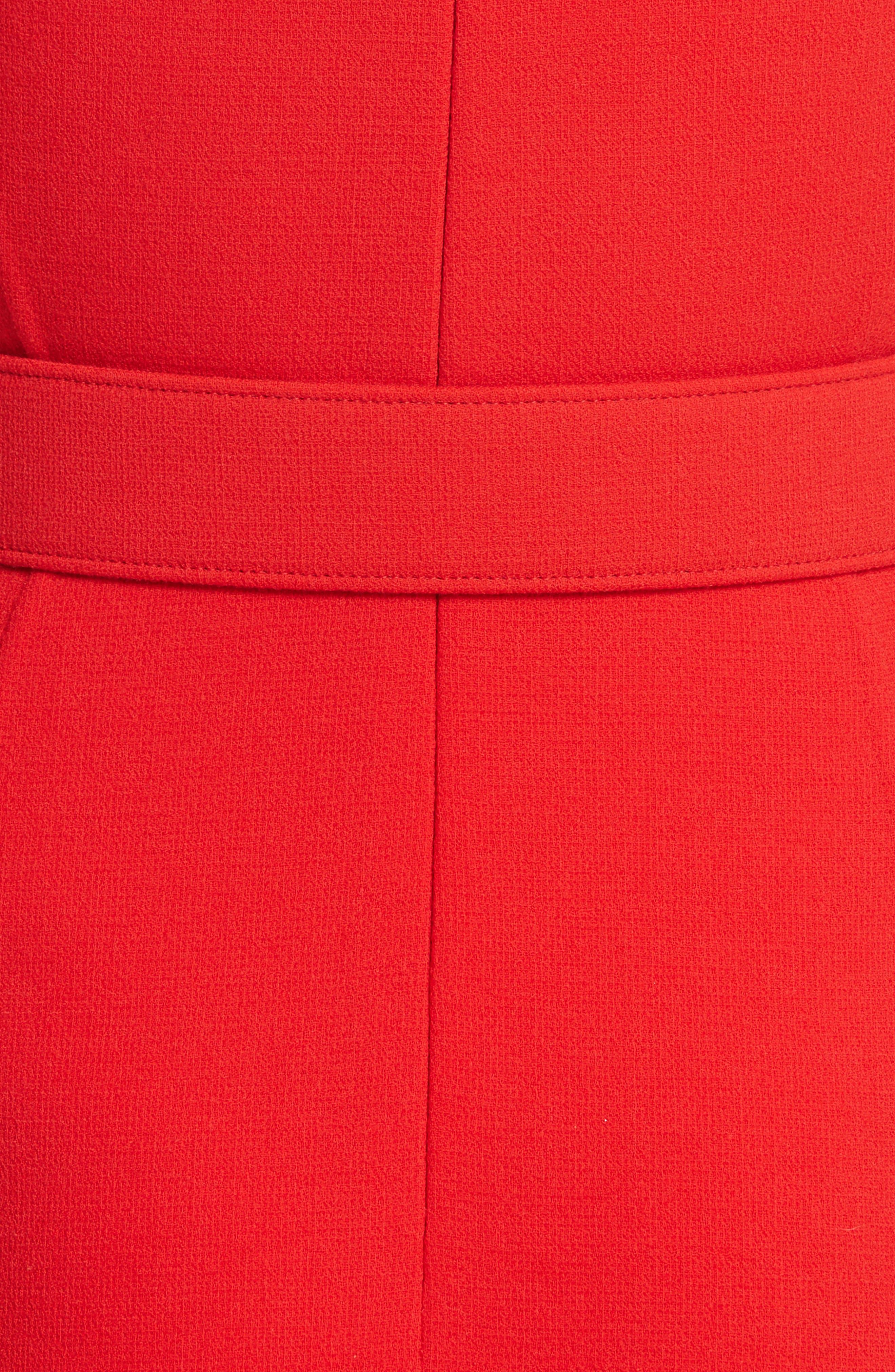 Crepe Fit & Flare Dress,                             Alternate thumbnail 5, color,                             620