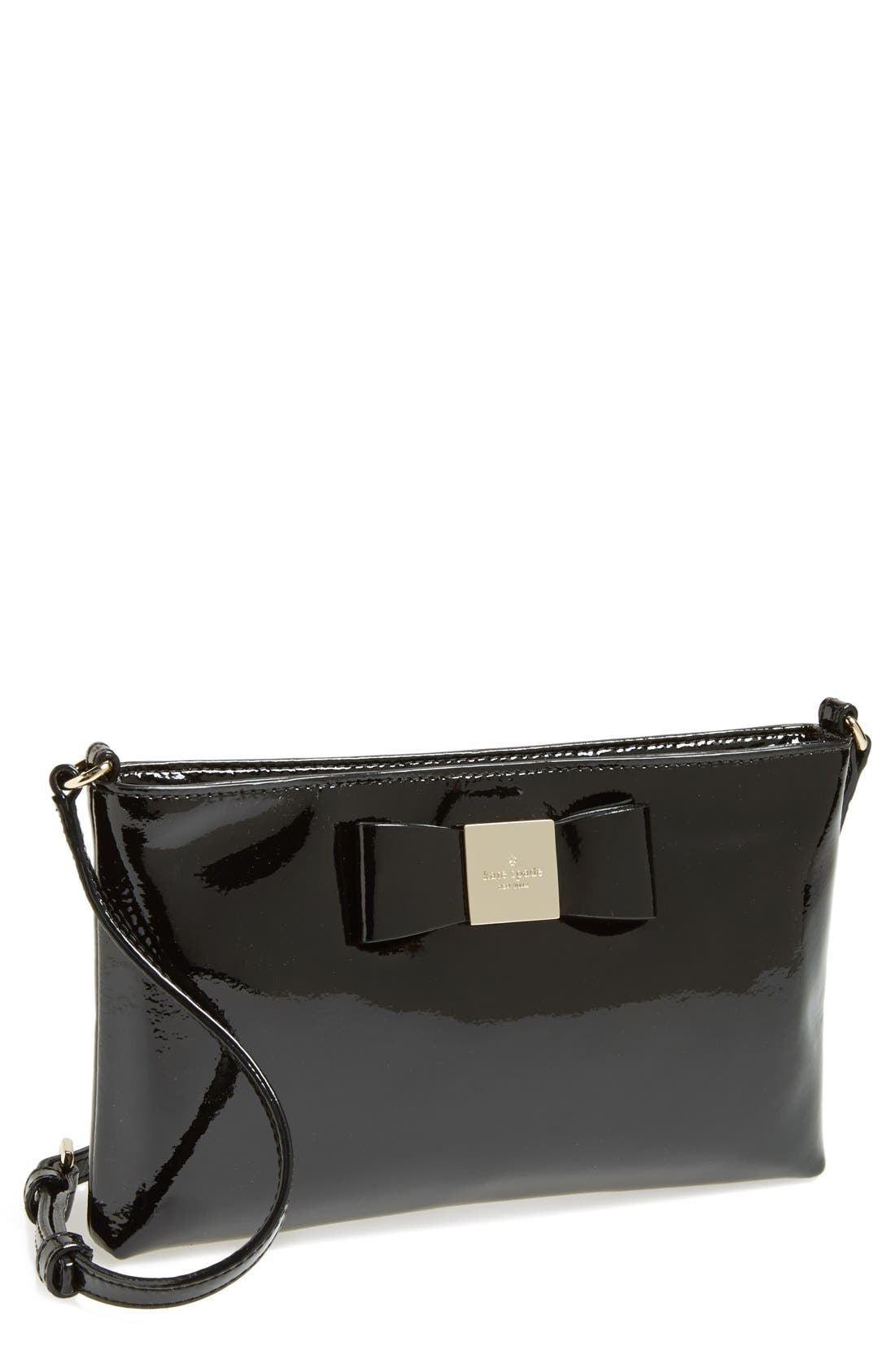 'maree' patent leather crossbody bag,                             Main thumbnail 1, color,                             001