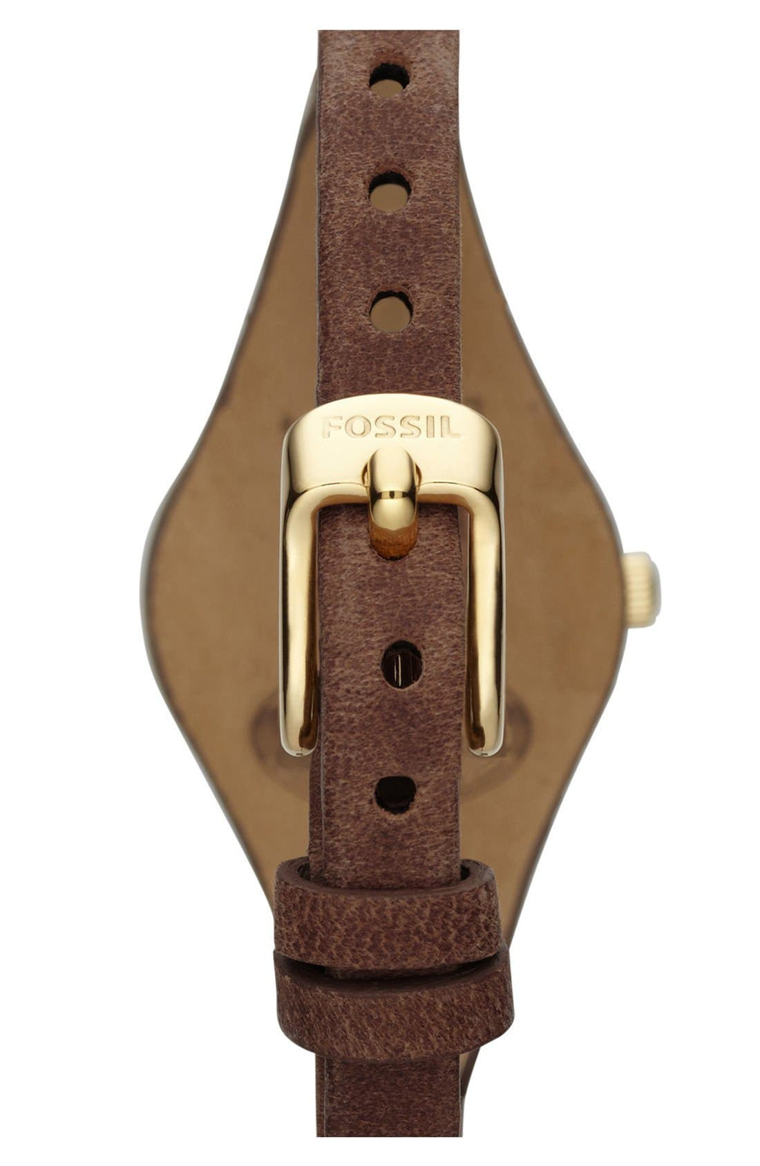 'Small Georgia' Leather Strap Watch, 26mm,                             Alternate thumbnail 16, color,