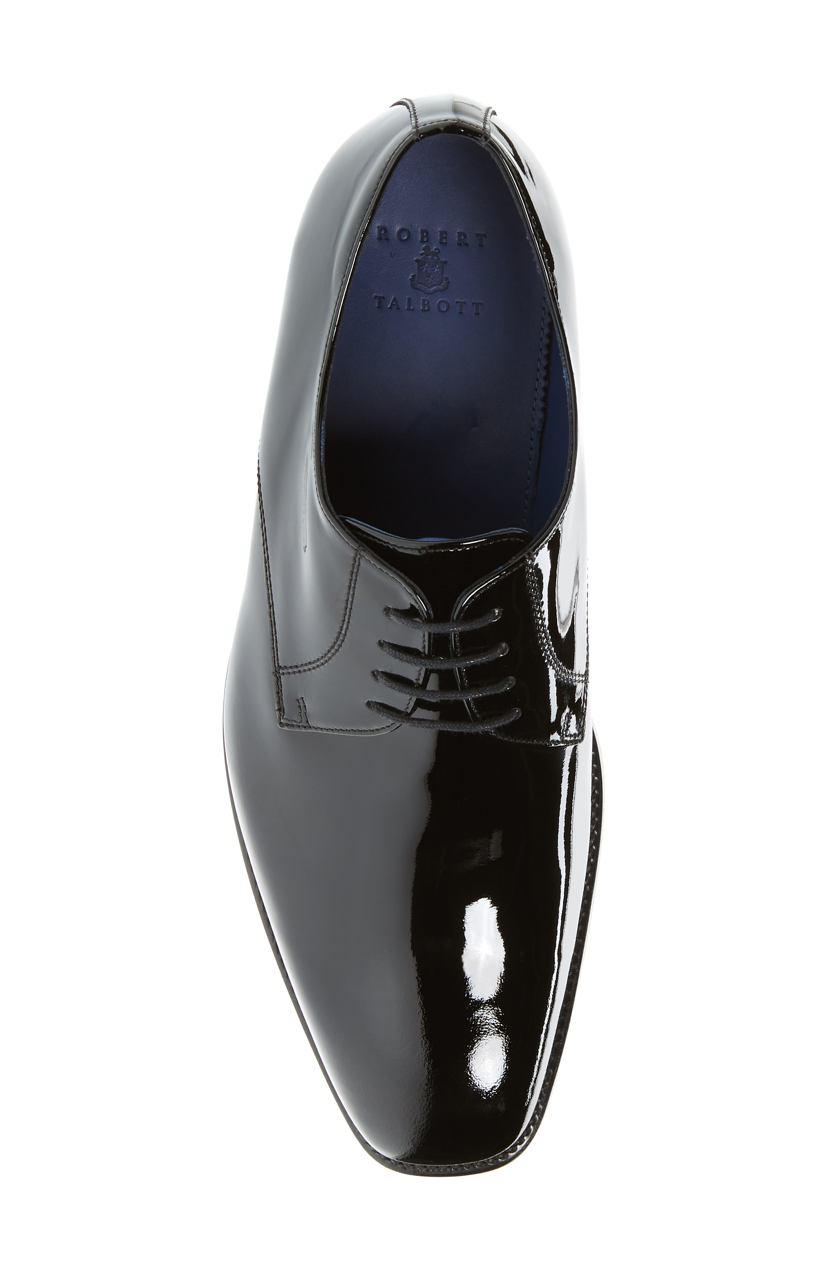 Alameda Plain Toe Derby,                             Alternate thumbnail 5, color,                             BLACK PATENT LEATHER