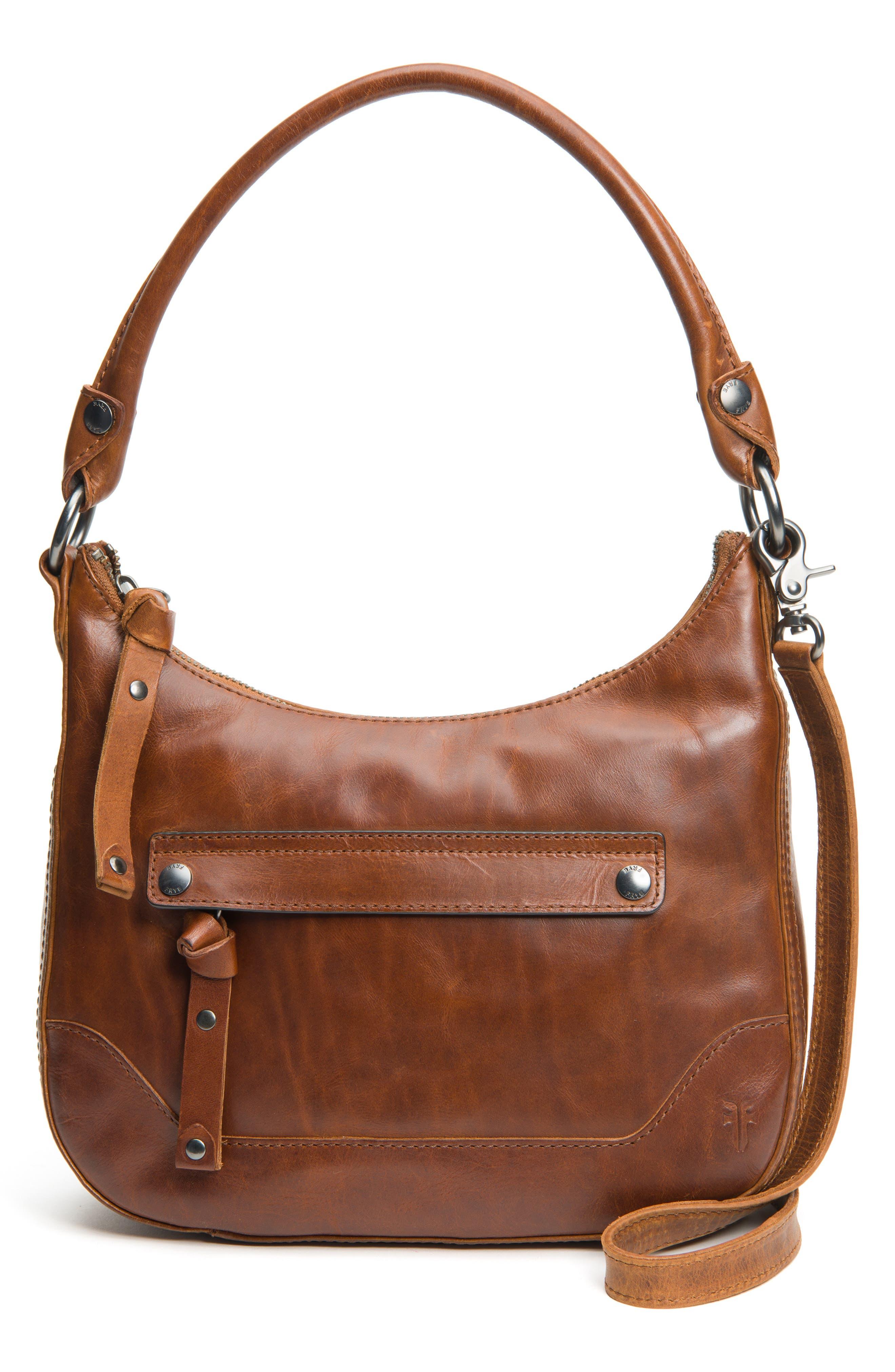 Small Melissa Leather Hobo Bag,                             Main thumbnail 1, color,