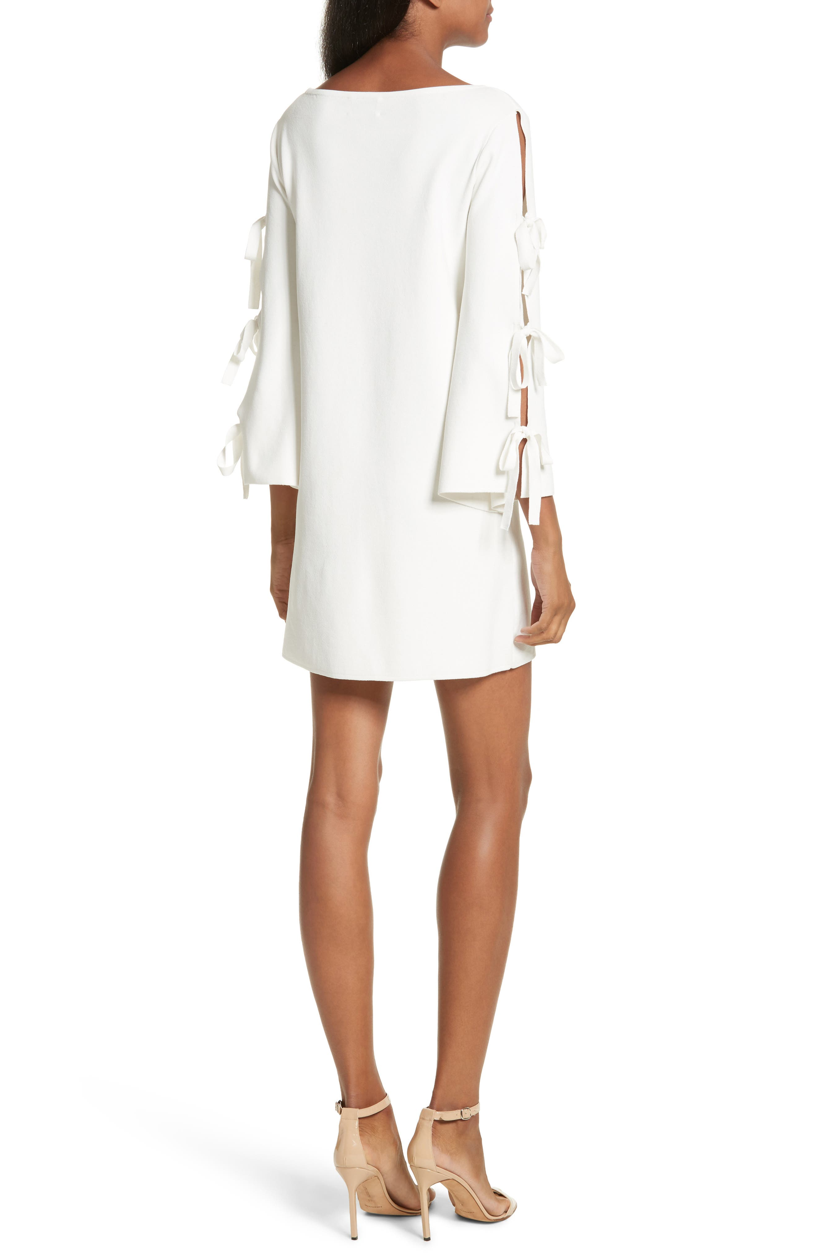 Tied Bell Sleeve Shift Dress,                             Alternate thumbnail 2, color,                             150