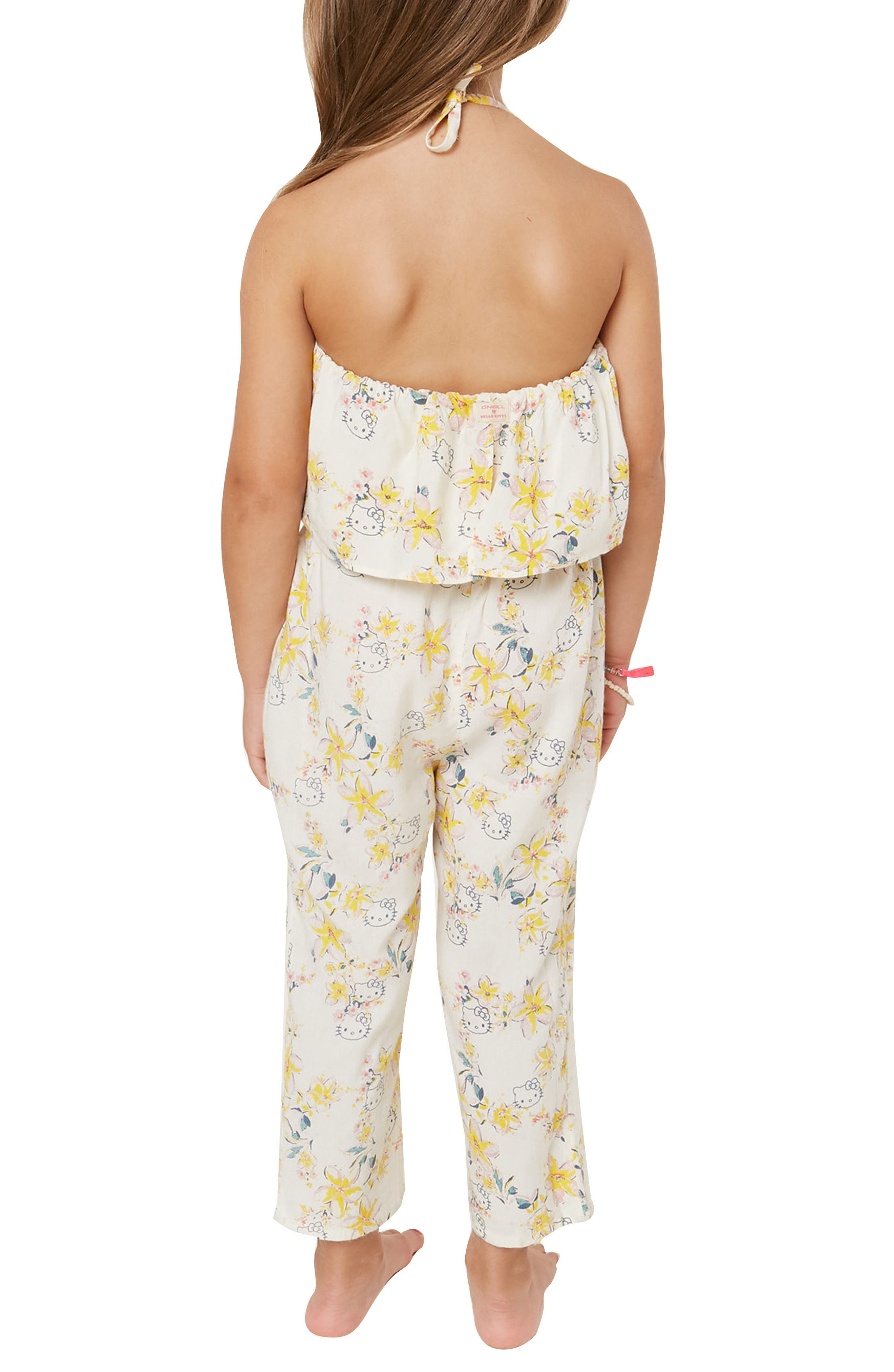 x Hello Kitty<sup>®</sup> Moani Ruffle Jumpsuit,                             Alternate thumbnail 3, color,                             900