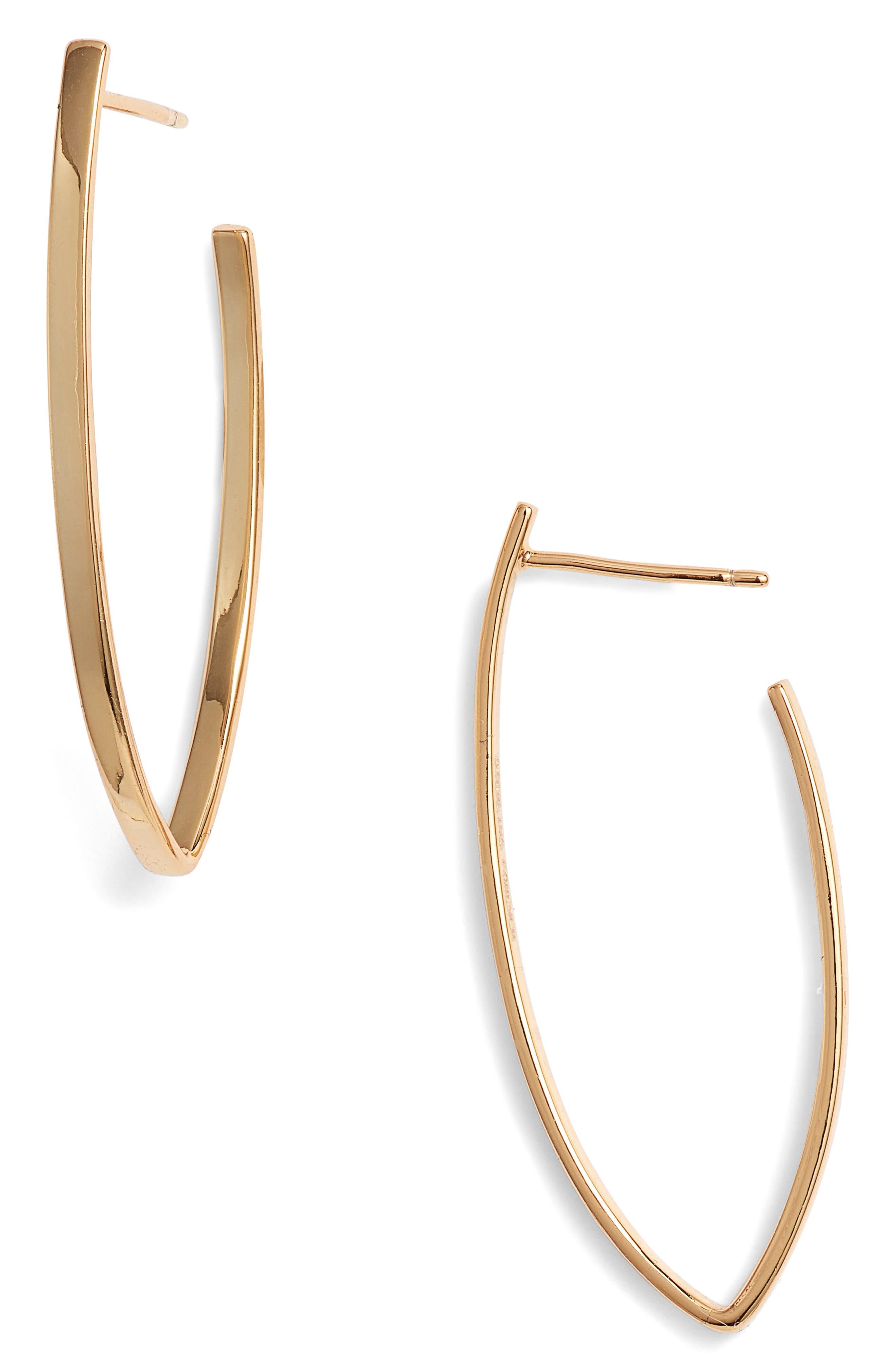 Gold Drop Earrings,                             Main thumbnail 1, color,                             710
