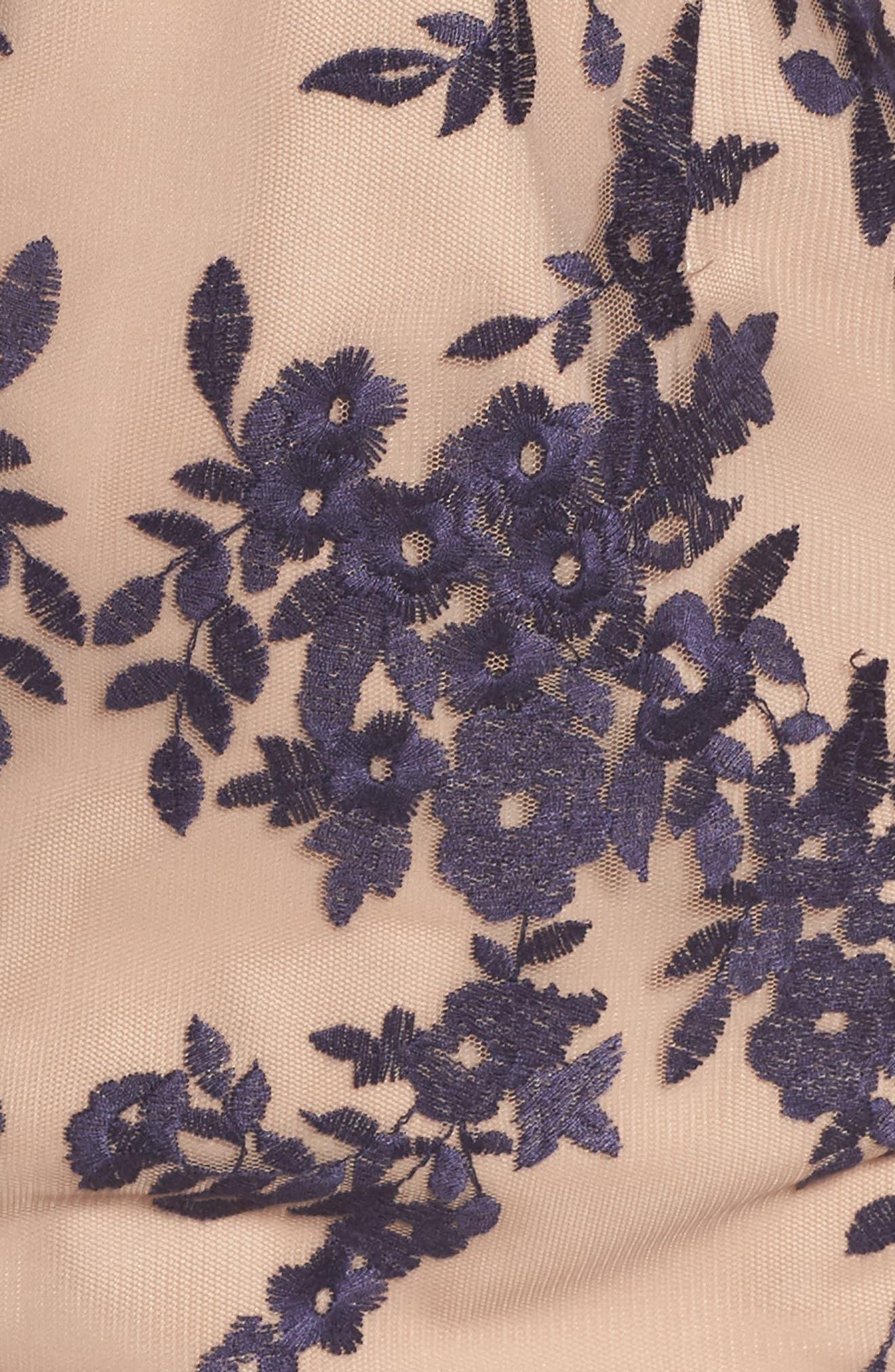 Flora Embroidered Sheath Dress,                             Alternate thumbnail 5, color,                             411