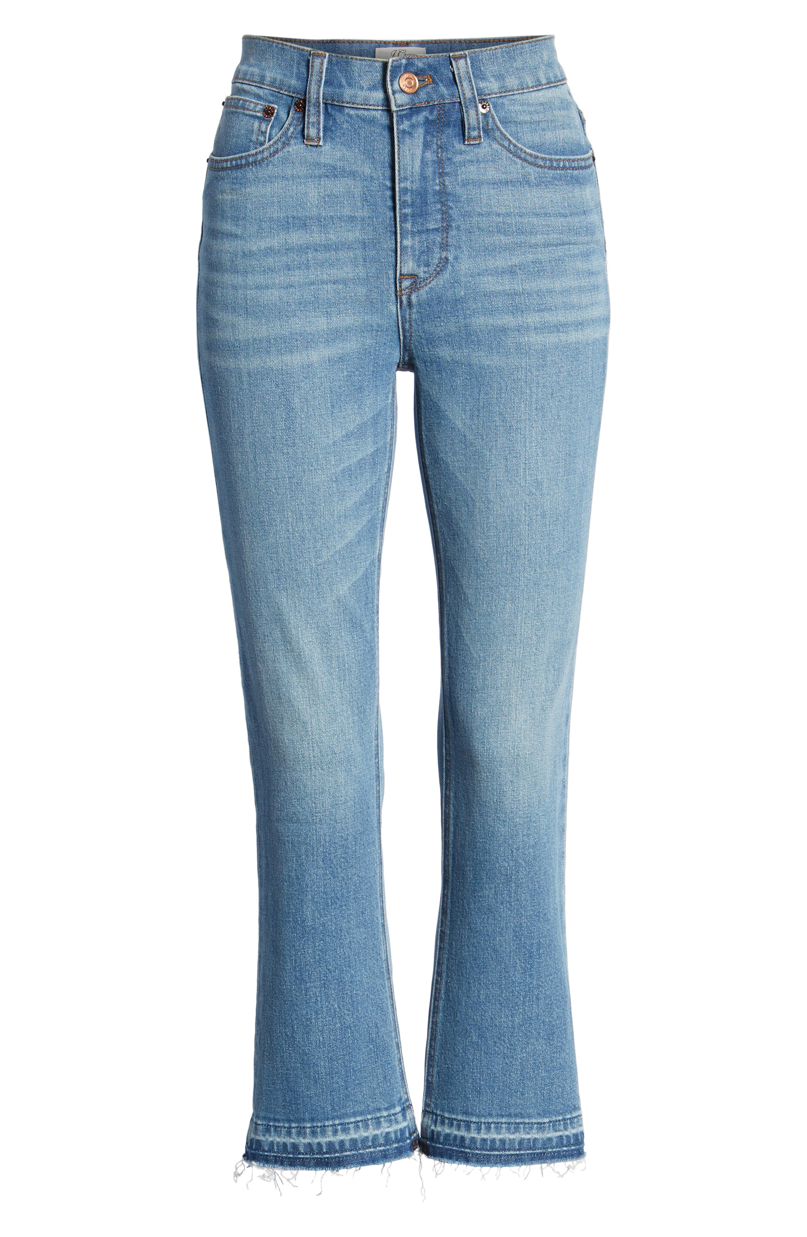 Billie Demi Boot Crop Jeans,                             Alternate thumbnail 7, color,                             400