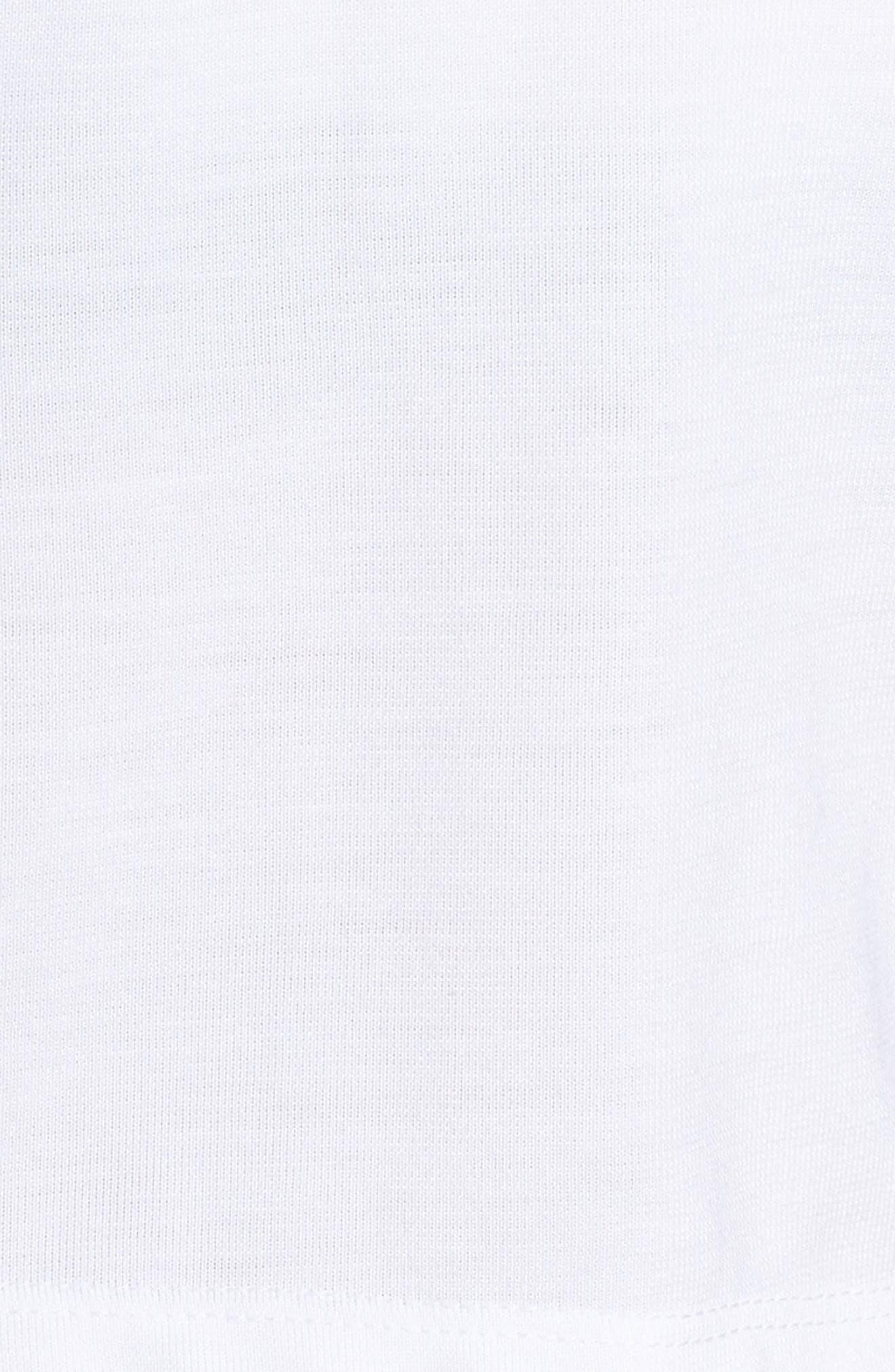 Sportswear Crop Top,                             Alternate thumbnail 6, color,                             WHITE/ BLACK