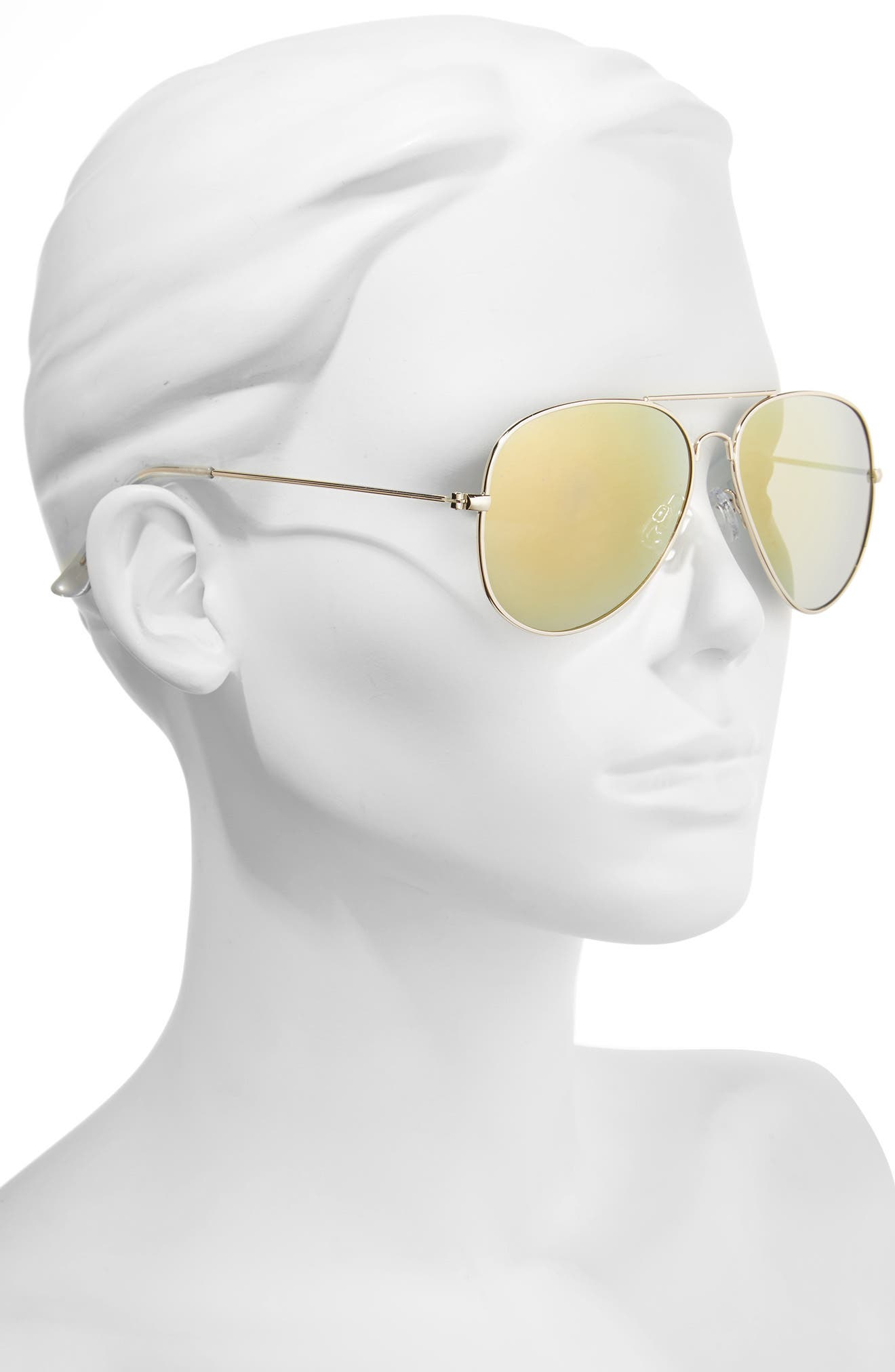Mirrored Aviator 57mm Sunglasses,                             Alternate thumbnail 22, color,