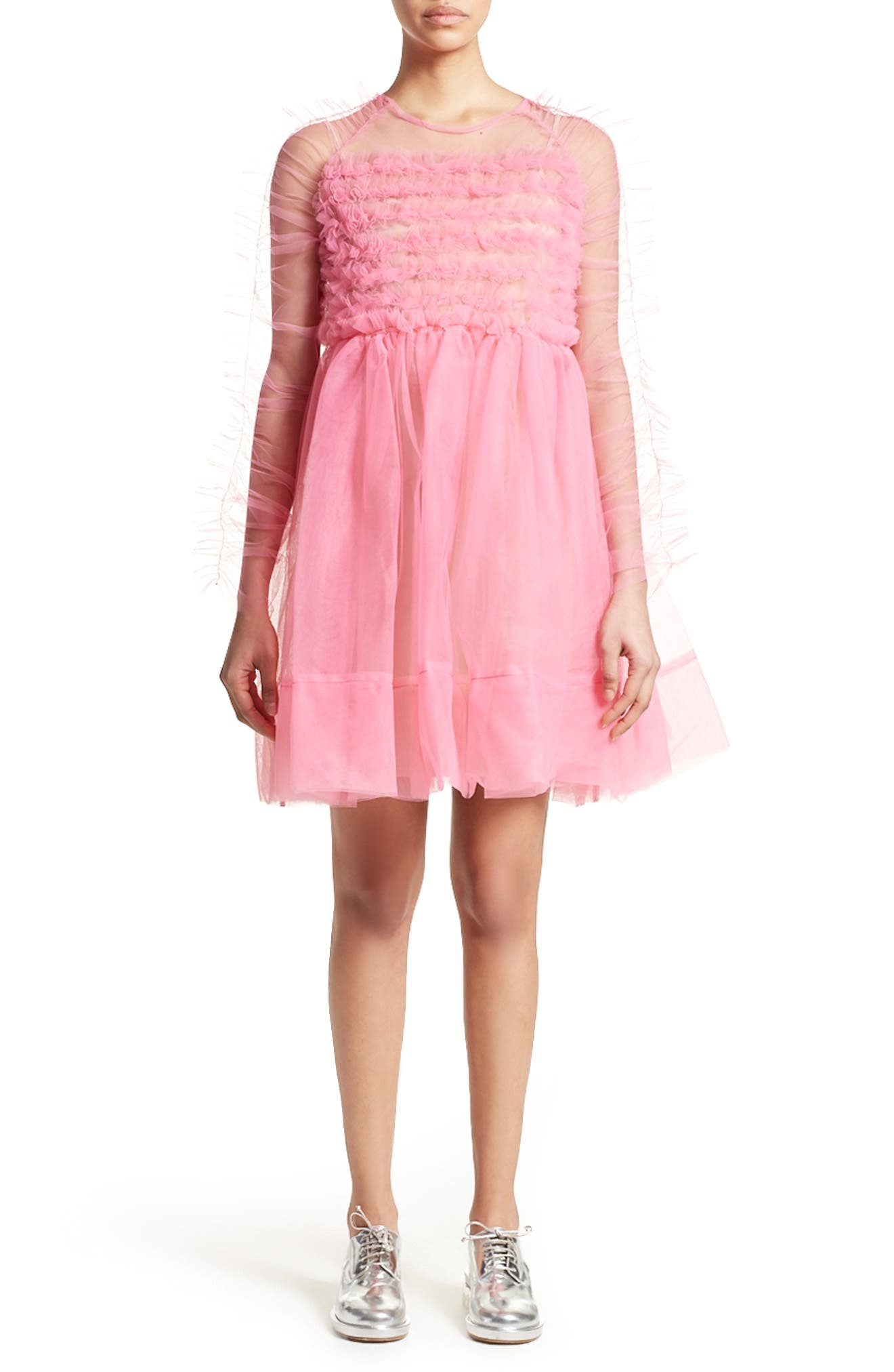 Funky Tulle Dress,                             Main thumbnail 1, color,