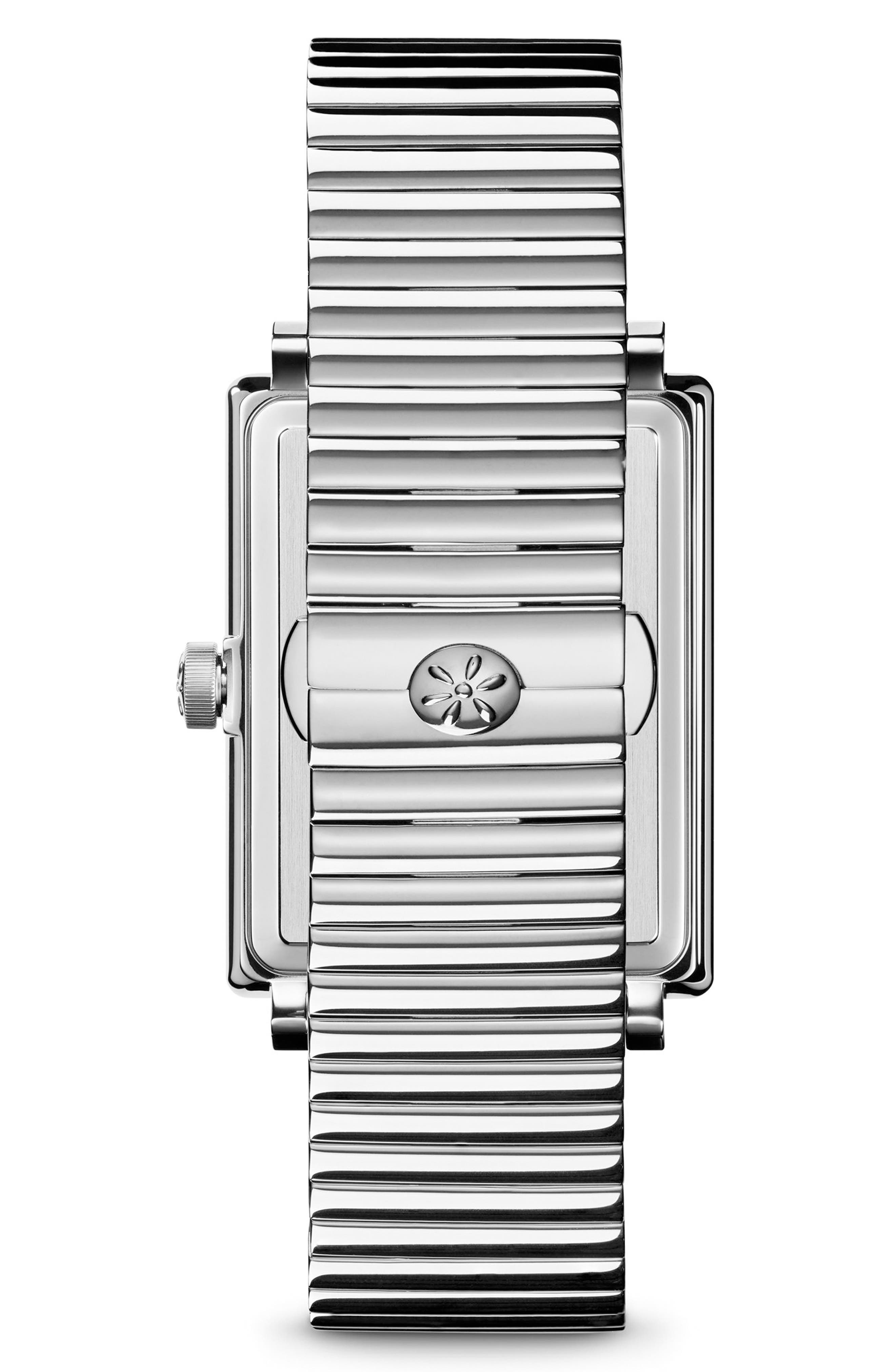 The Shirley Fromer Diamond Bracelet Watch, 32mm x 25mm,                             Alternate thumbnail 2, color,                             SILVER/ MOP/ SILVER