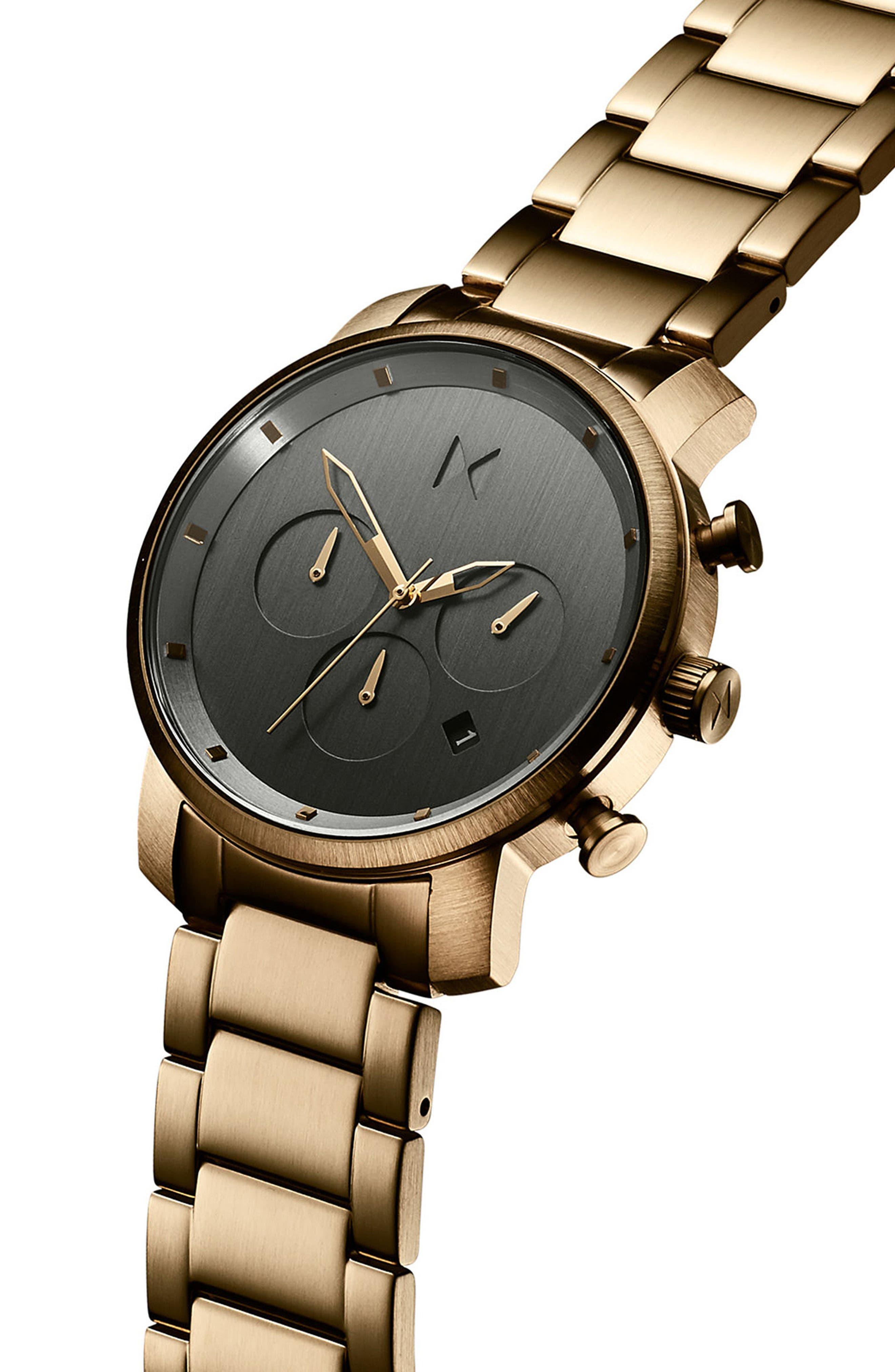 Chrono Chronograph Bracelet Watch, 40mm,                             Alternate thumbnail 3, color,                             040