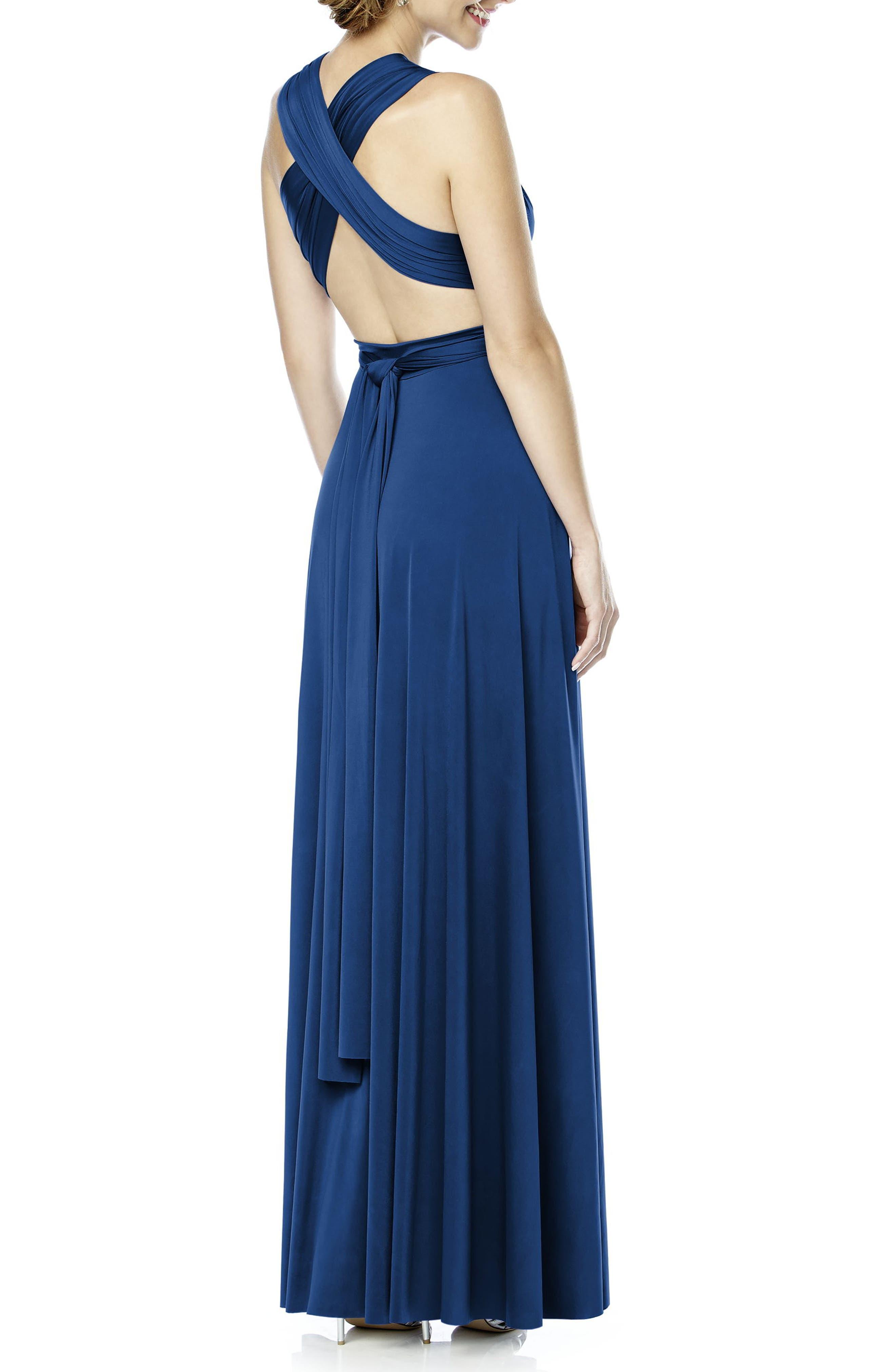 Convertible Wrap Tie Surplice Jersey Gown,                             Alternate thumbnail 29, color,