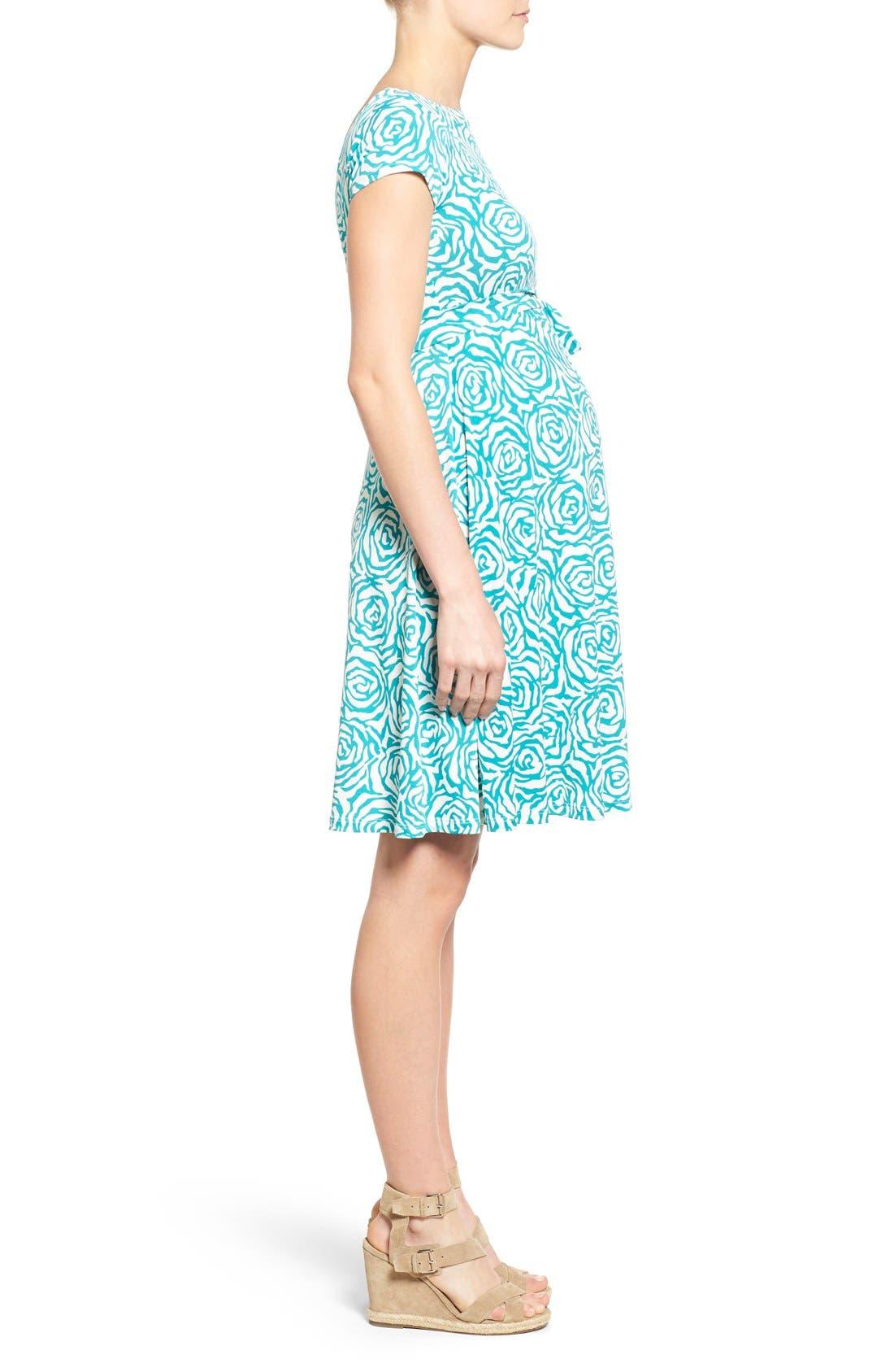 'Ilana' A-Line Maternity Dress,                             Alternate thumbnail 7, color,