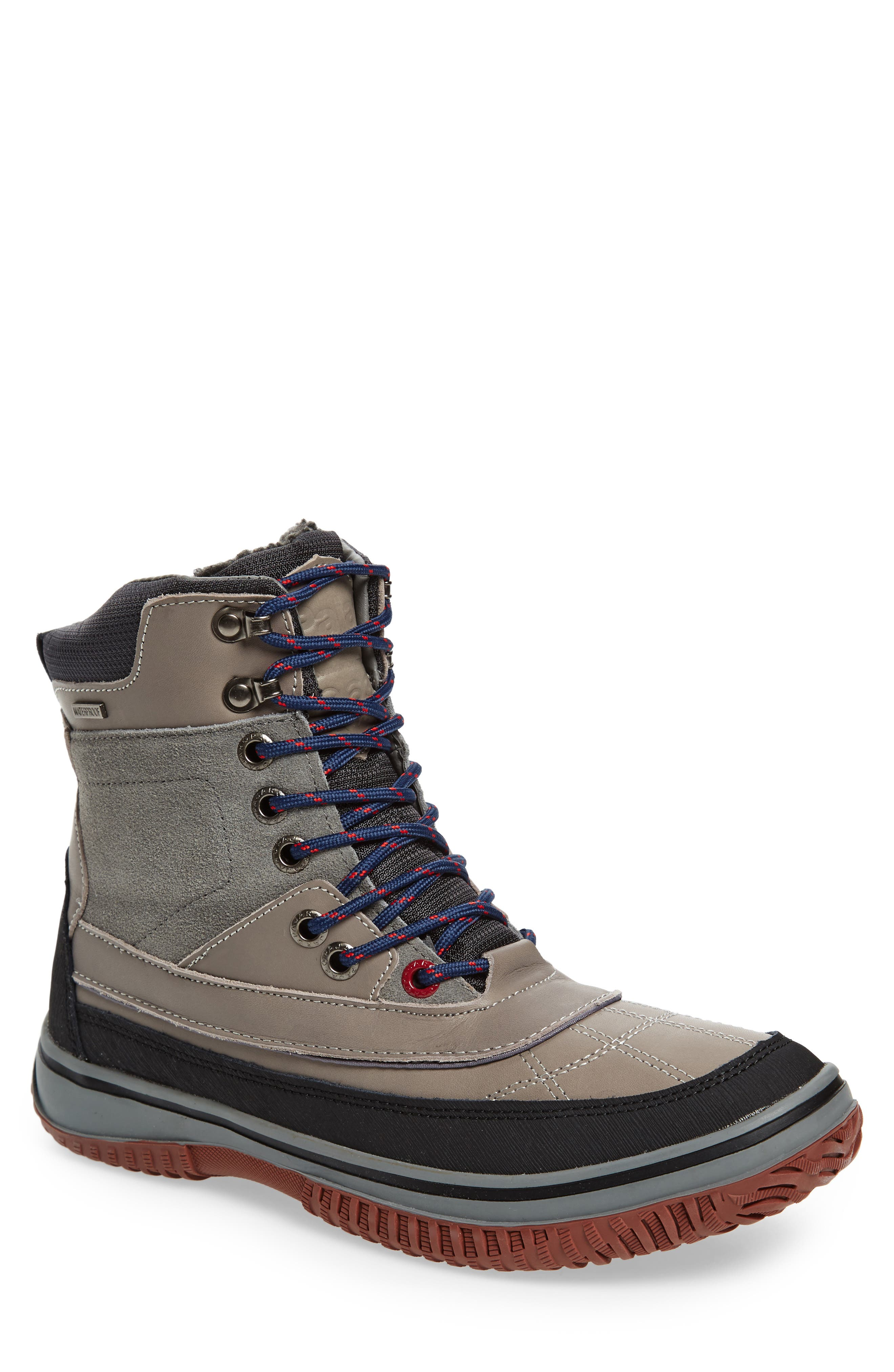 Gaspar Waterproof Winter Boot,                             Main thumbnail 1, color,                             GREY LEATHER