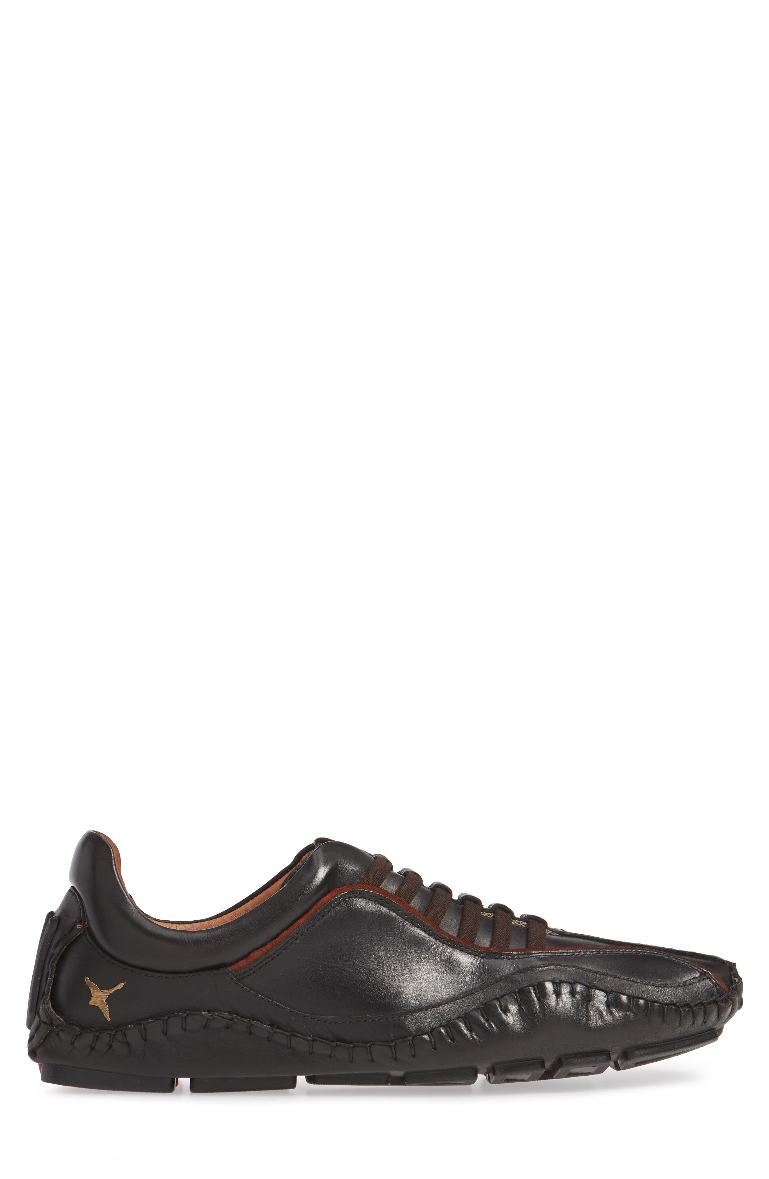 'Fuencarral' Driving Shoe,                             Alternate thumbnail 3, color,                             BLACK