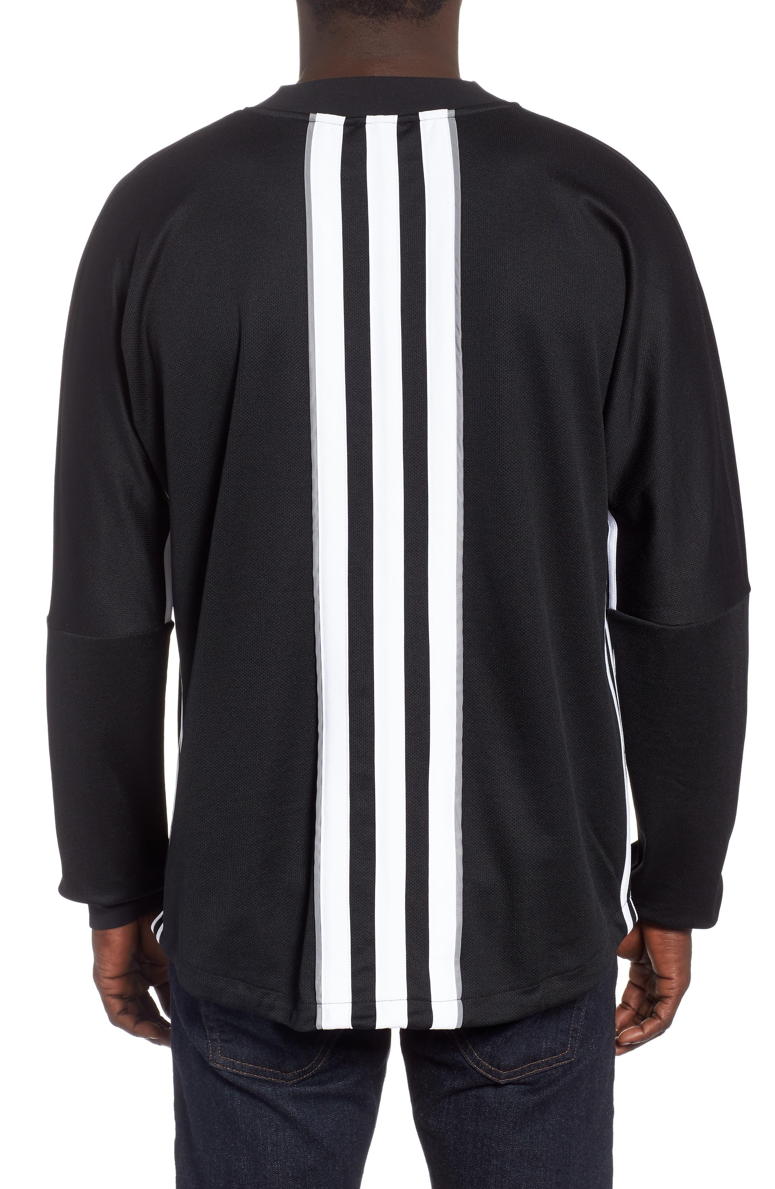 Authentics Long Sleeve Goalie Shirt,                             Alternate thumbnail 2, color,                             BLACK/ WHITE