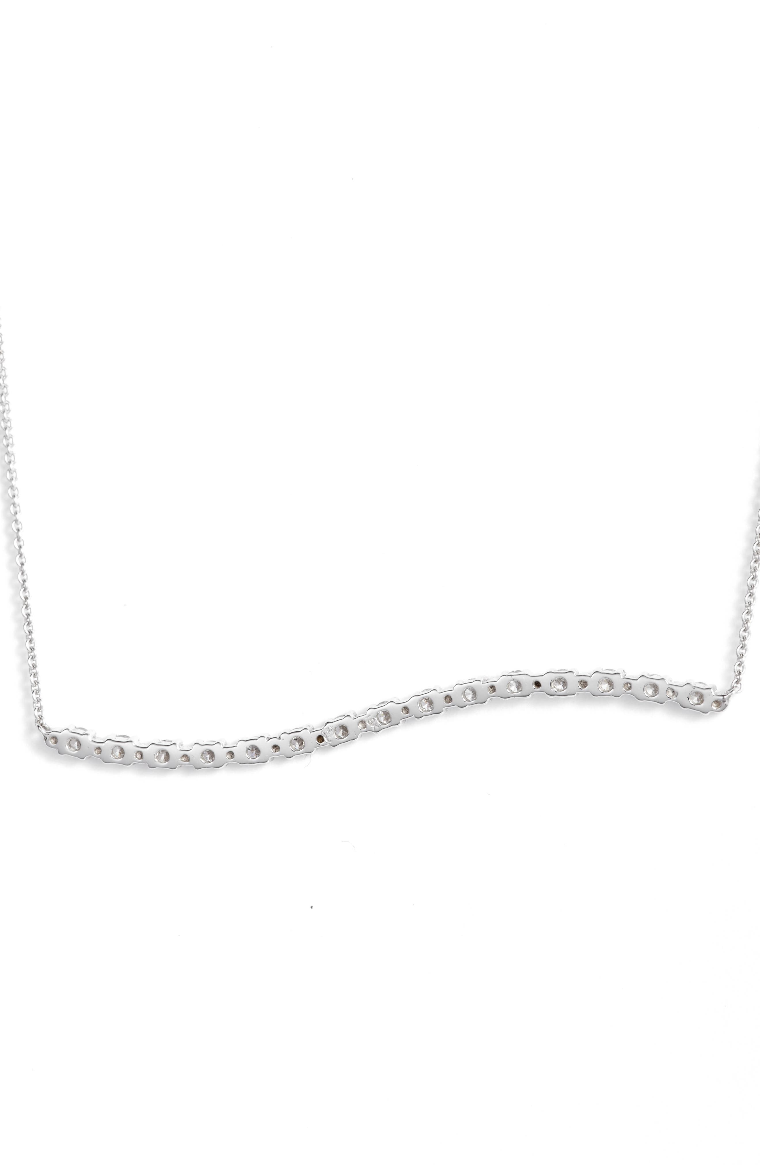 Wavy Bar Diamond Pendant Necklace,                             Alternate thumbnail 5, color,                             711