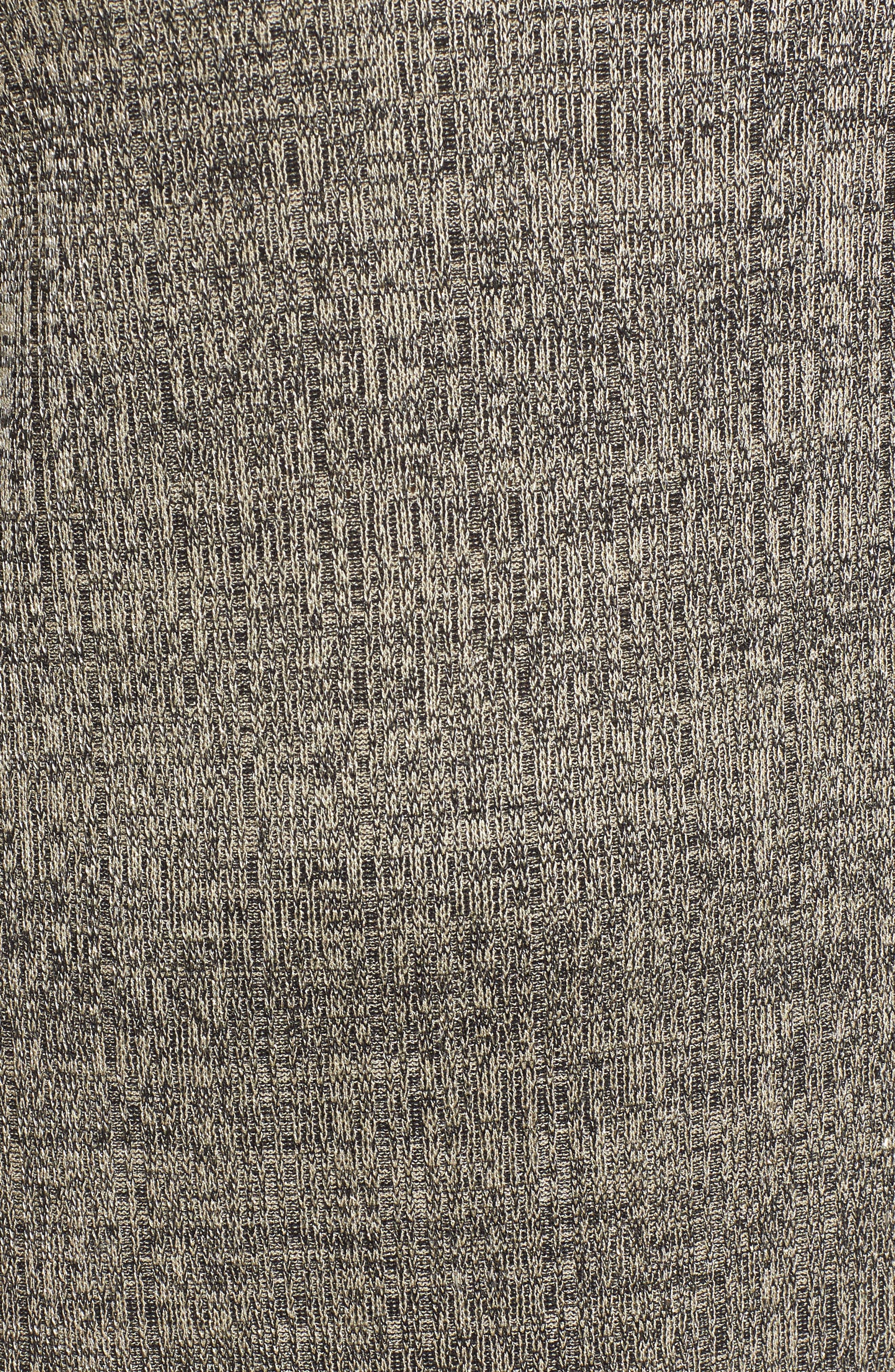 Textured Knit Tunic,                             Alternate thumbnail 5, color,                             CEDAR/ BLACK