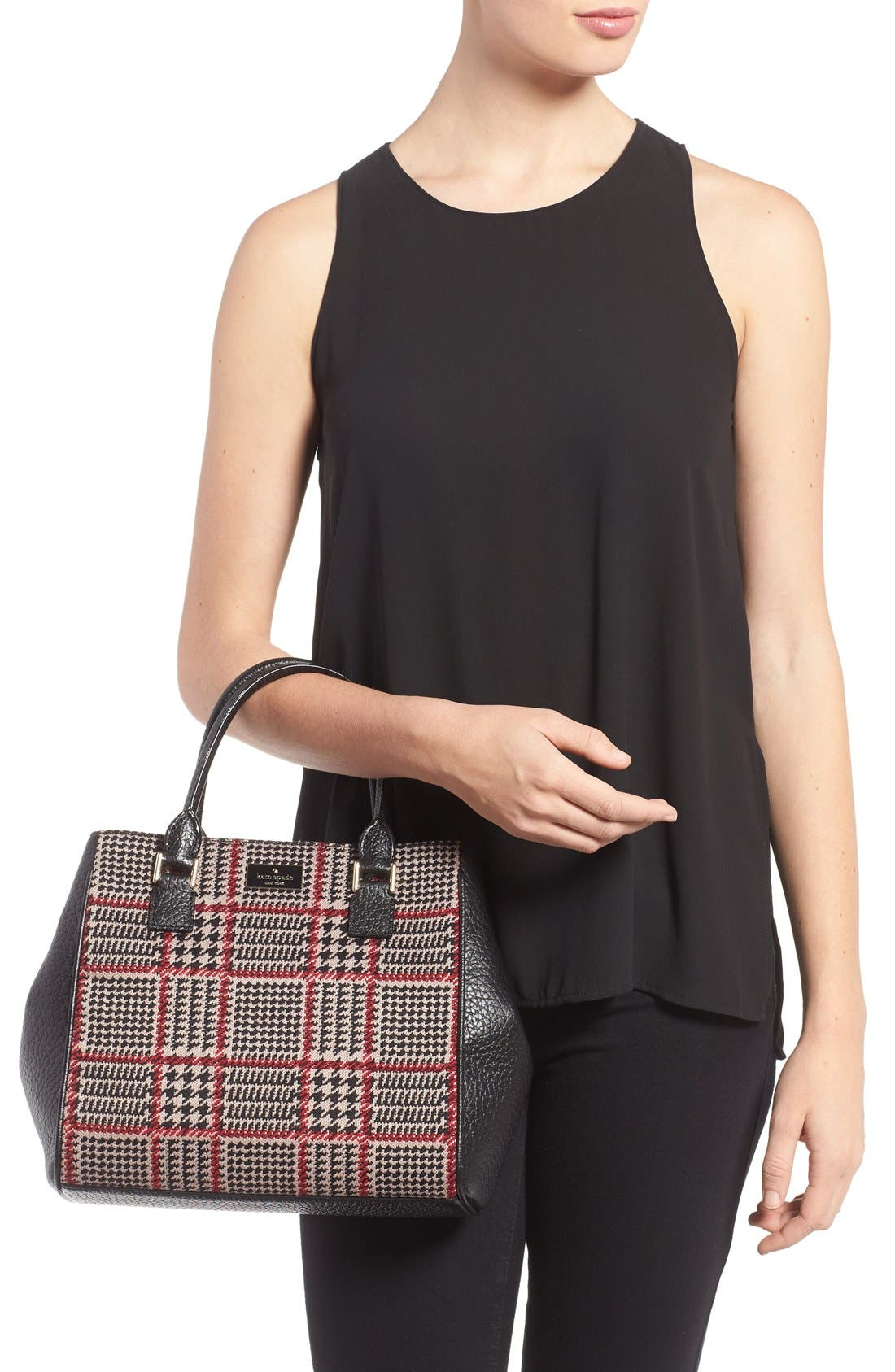 prospect place maddie houndstooth satchel,                             Alternate thumbnail 6, color,                             206