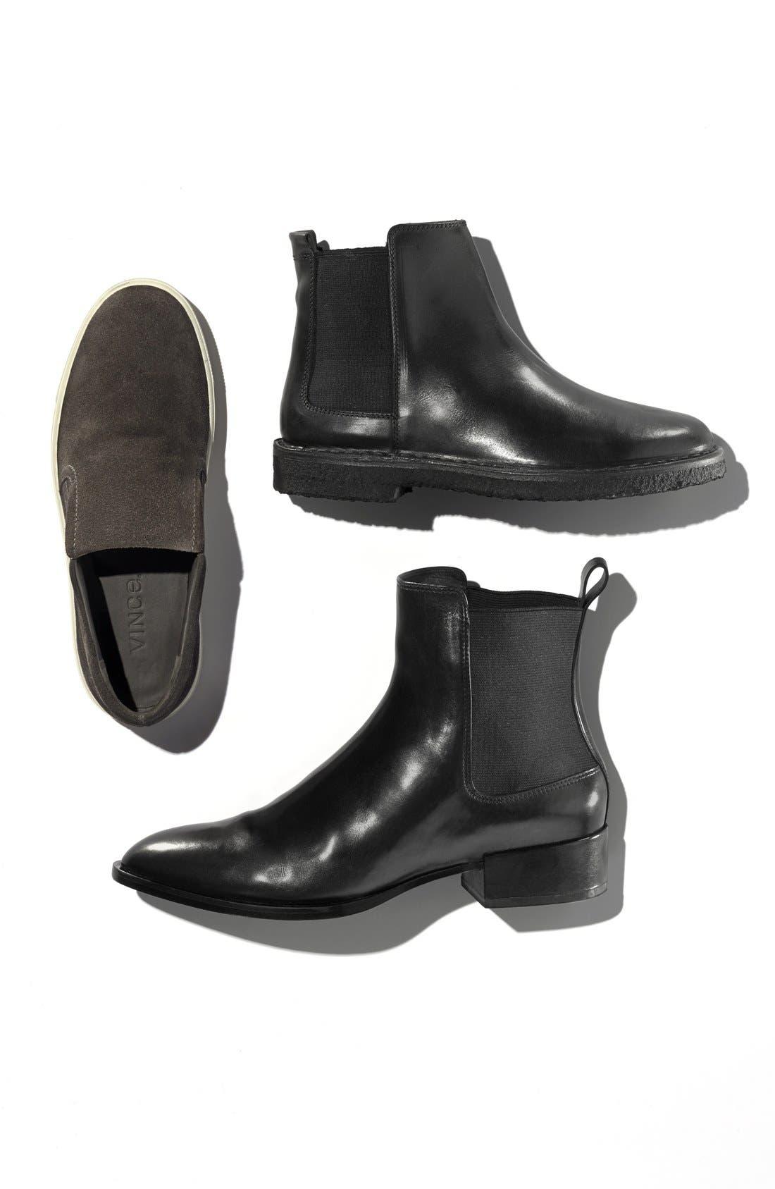 'Yarmon' Almond Toe Calfskin Leather Chelsea Boot,                             Alternate thumbnail 5, color,                             002