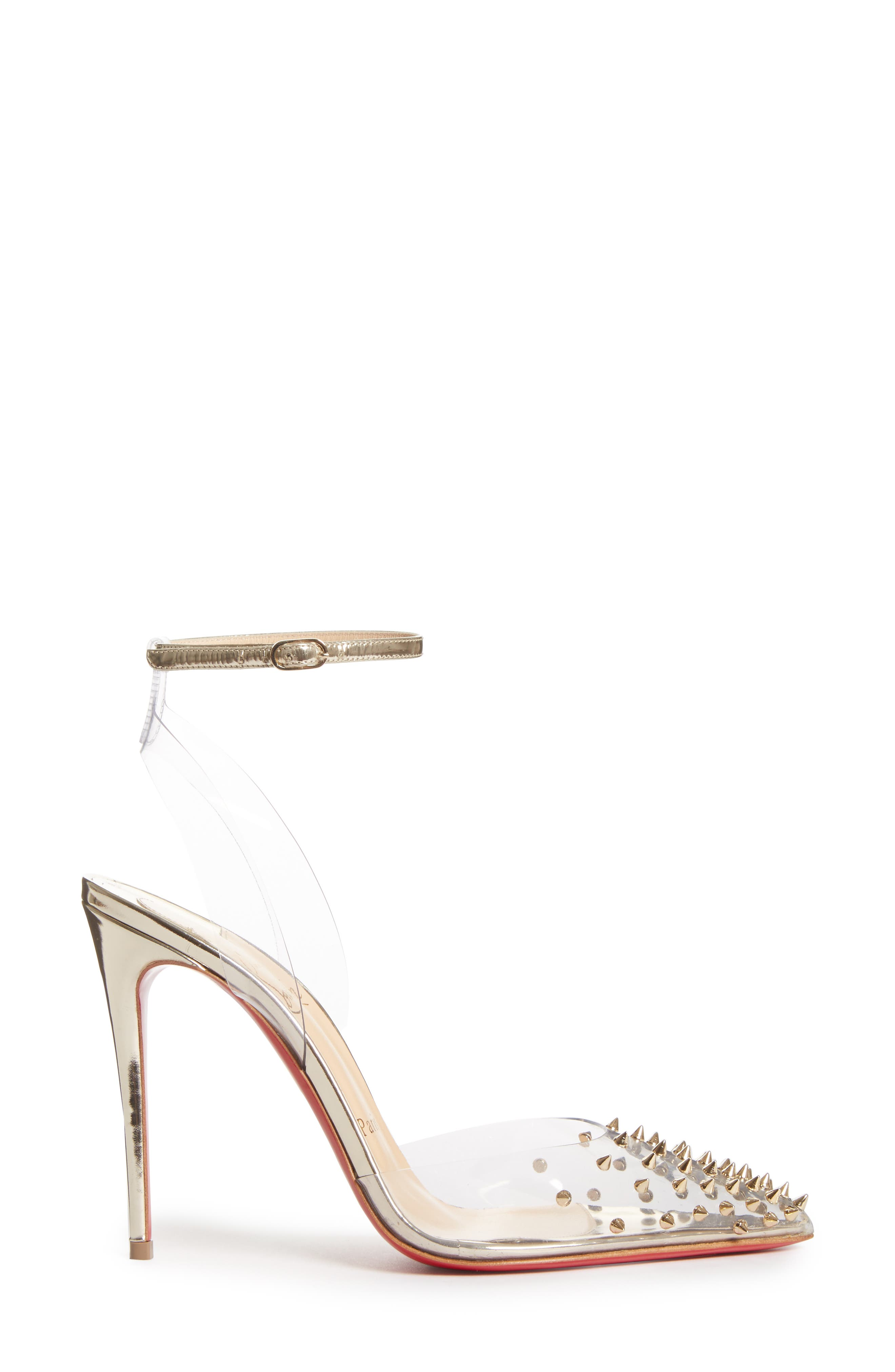 Spikoo Clear Ankle Strap Pump,                             Alternate thumbnail 3, color,                             710
