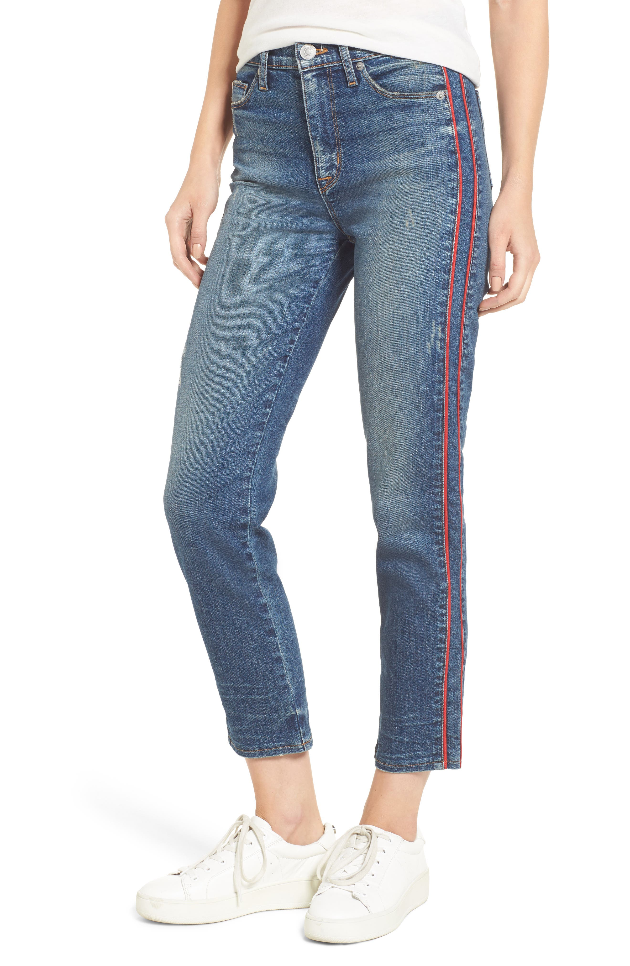 Zoeey High Waist Crop Jeans,                             Main thumbnail 1, color,                             460
