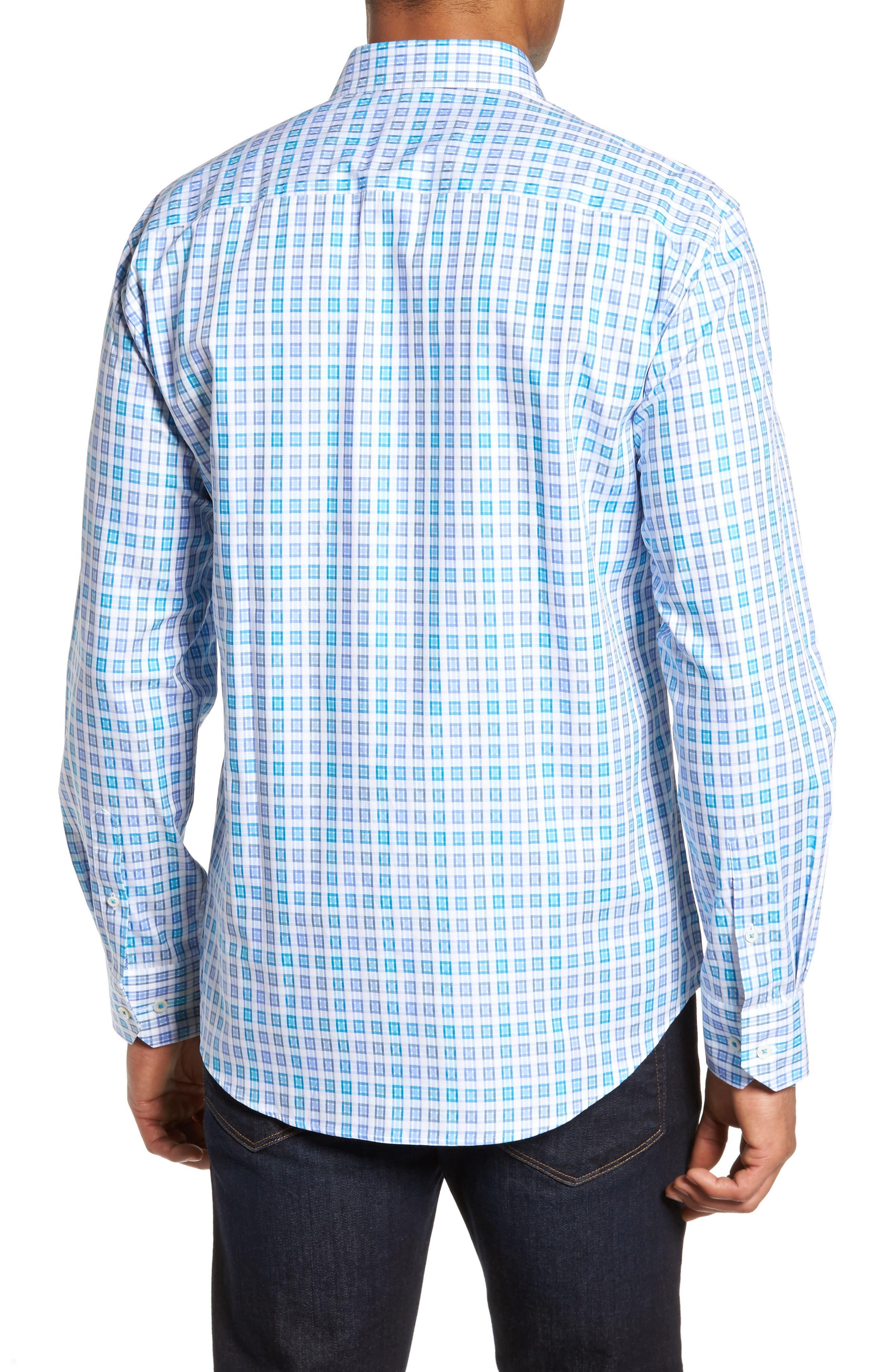 Shaped Fit Check Sport Shirt,                             Alternate thumbnail 2, color,                             424