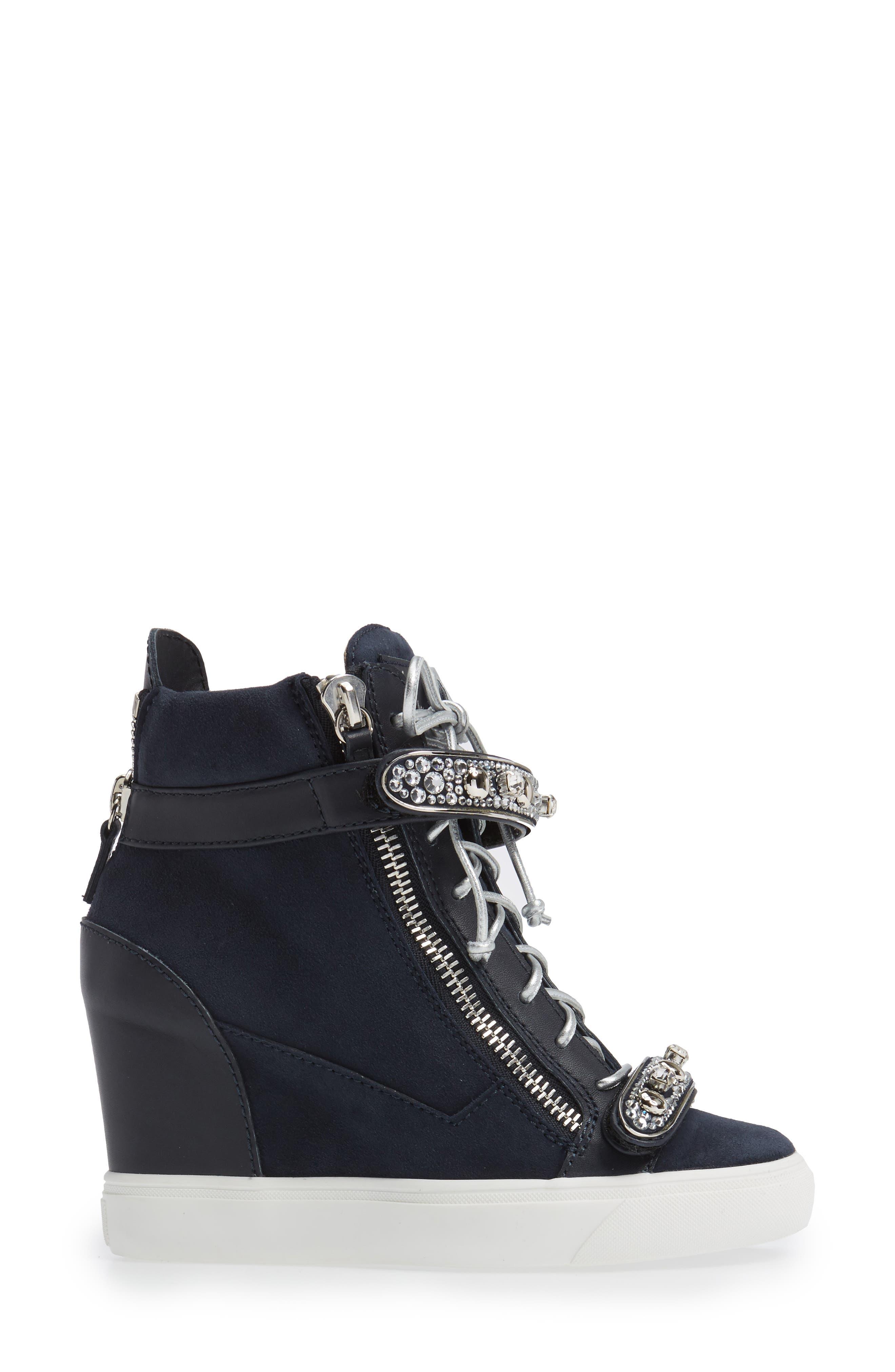 Giuseppe for Jennifer Lopez Tiana Hidden Wedge Sneaker,                             Alternate thumbnail 6, color,