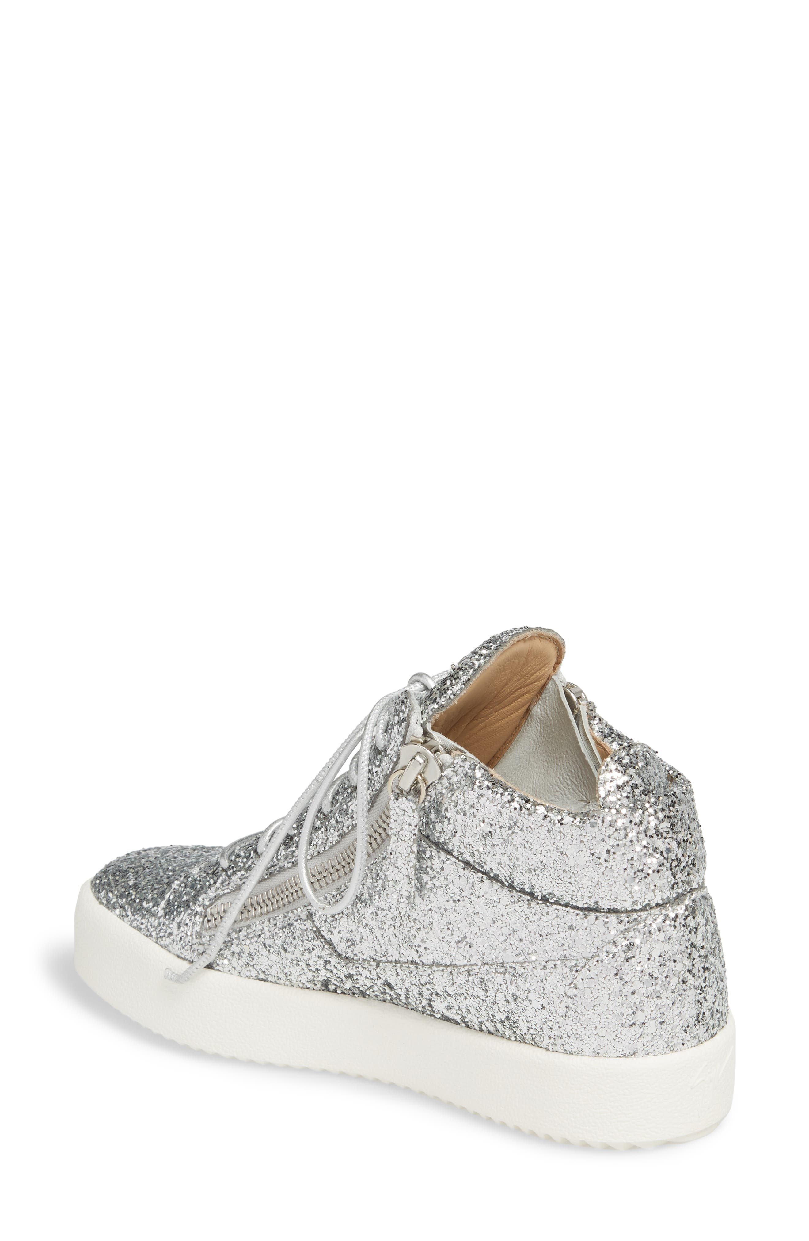 May London High Top Sneaker,                             Alternate thumbnail 2, color,                             SILVER