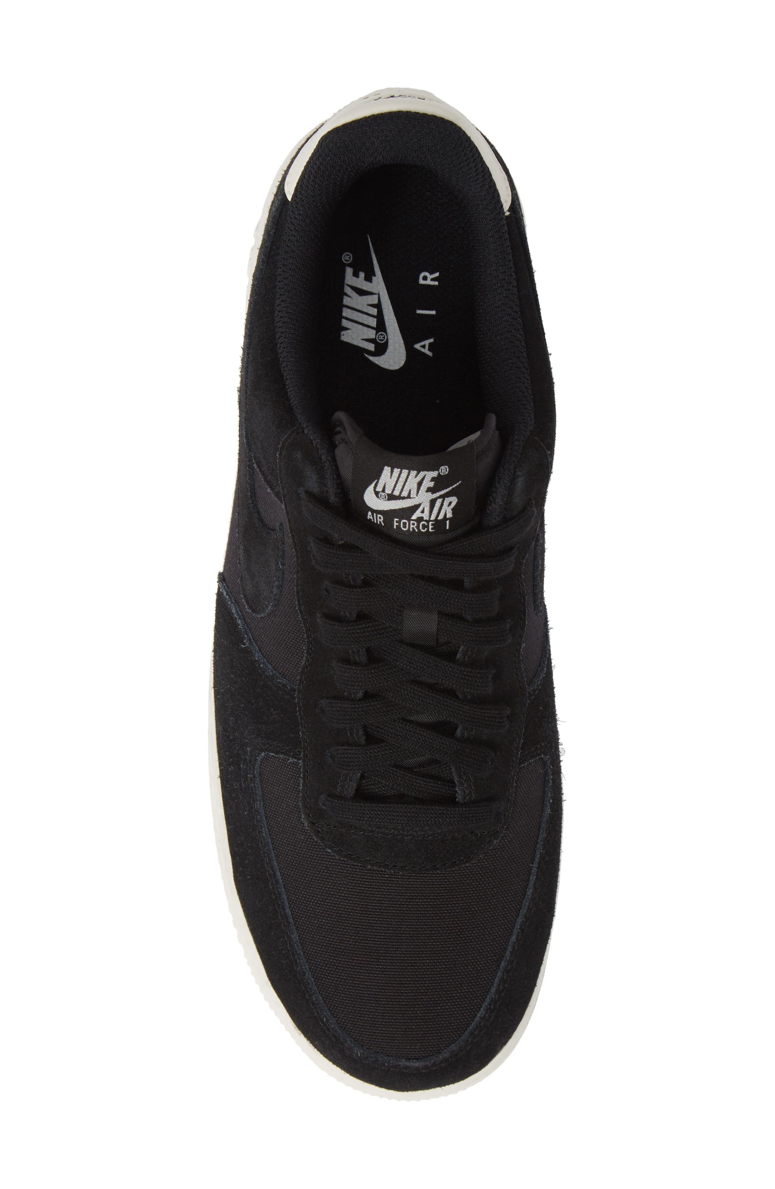 Air Force 1 '07 Suede Sneaker,                             Alternate thumbnail 5, color,                             BLACK/ SAIL