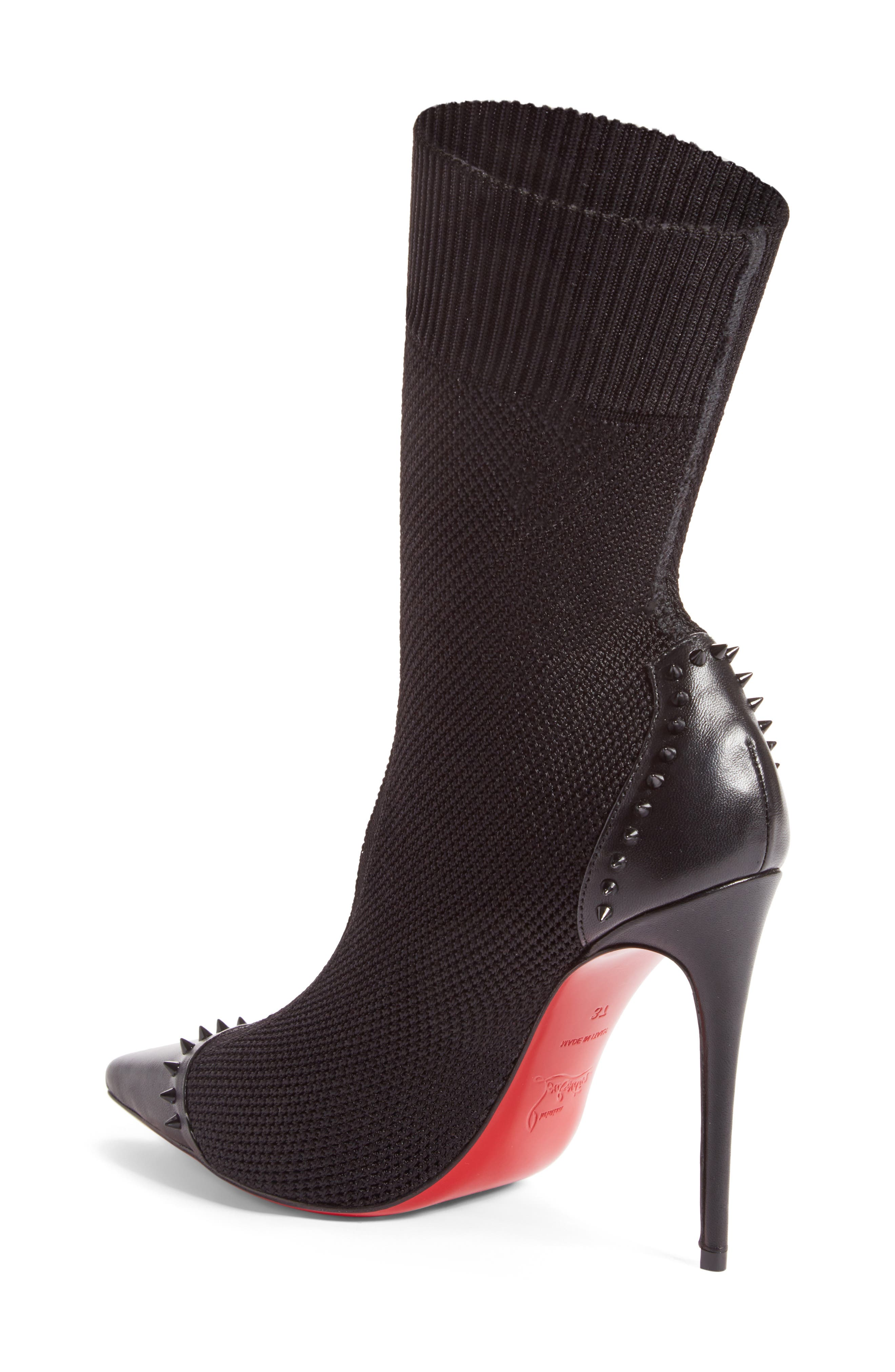 Dovi Dova Spiked Pointy Toe Bootie,                             Alternate thumbnail 2, color,                             001