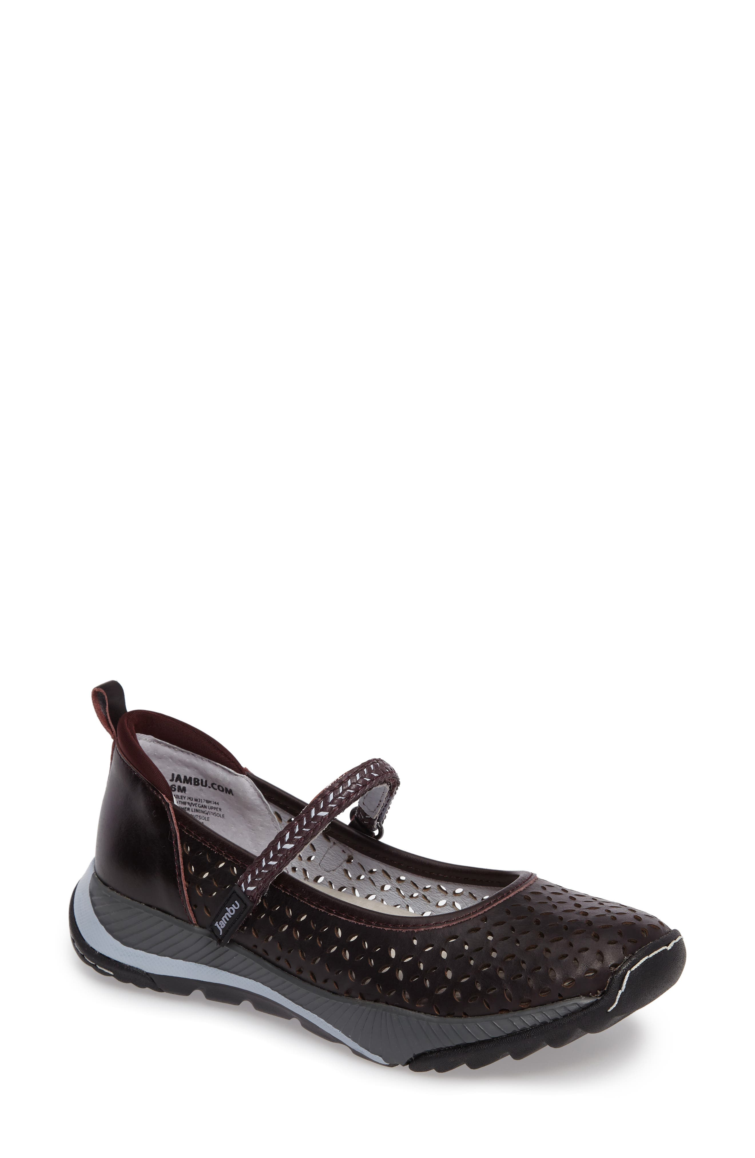 Bailey Perforated Mary Jane Sneaker,                             Main thumbnail 4, color,