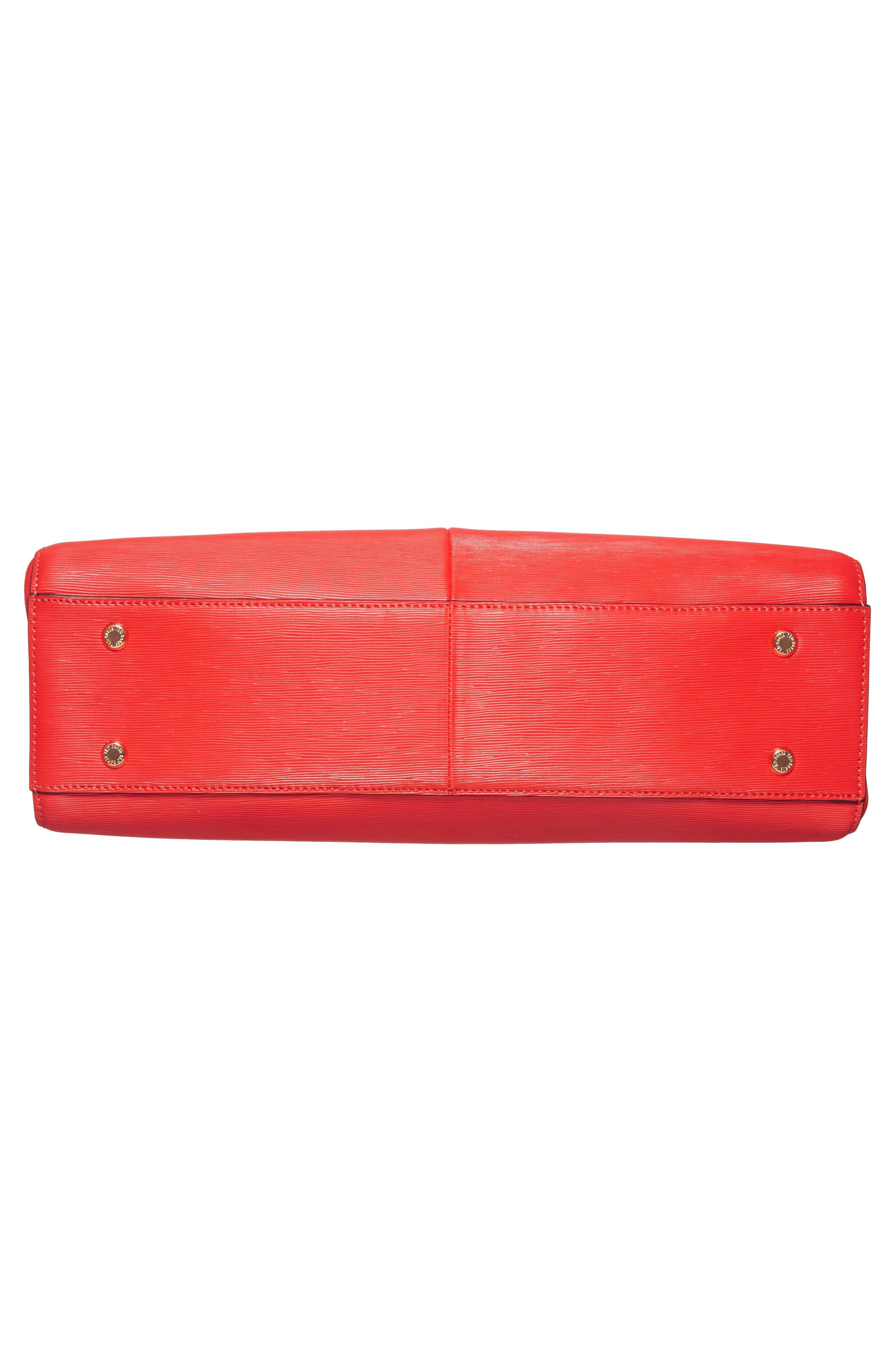 Callaa Bow Leather Shopper,                             Alternate thumbnail 18, color,