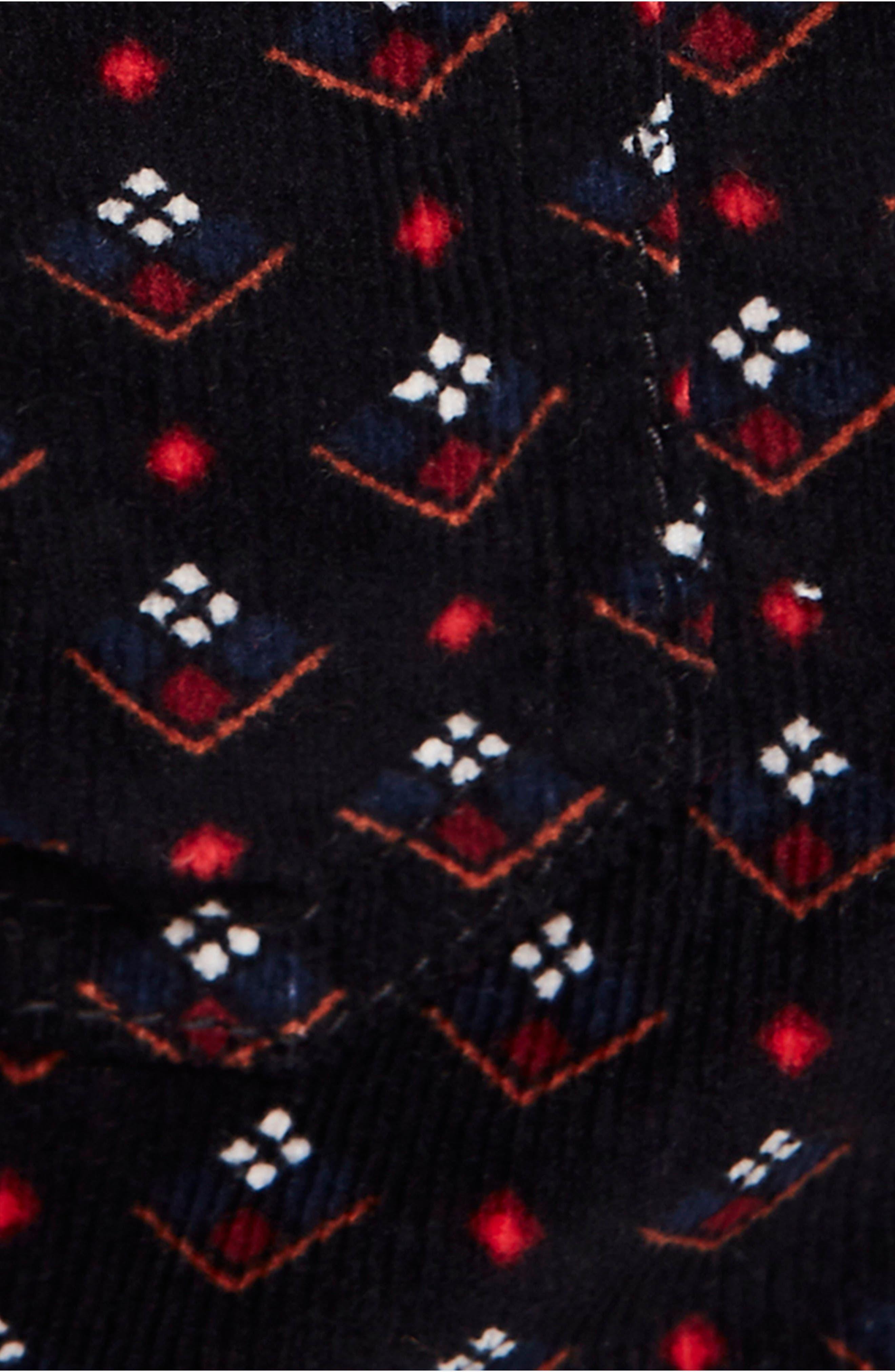 Joanie Print Corduroy Skirt,                             Alternate thumbnail 5, color,                             019