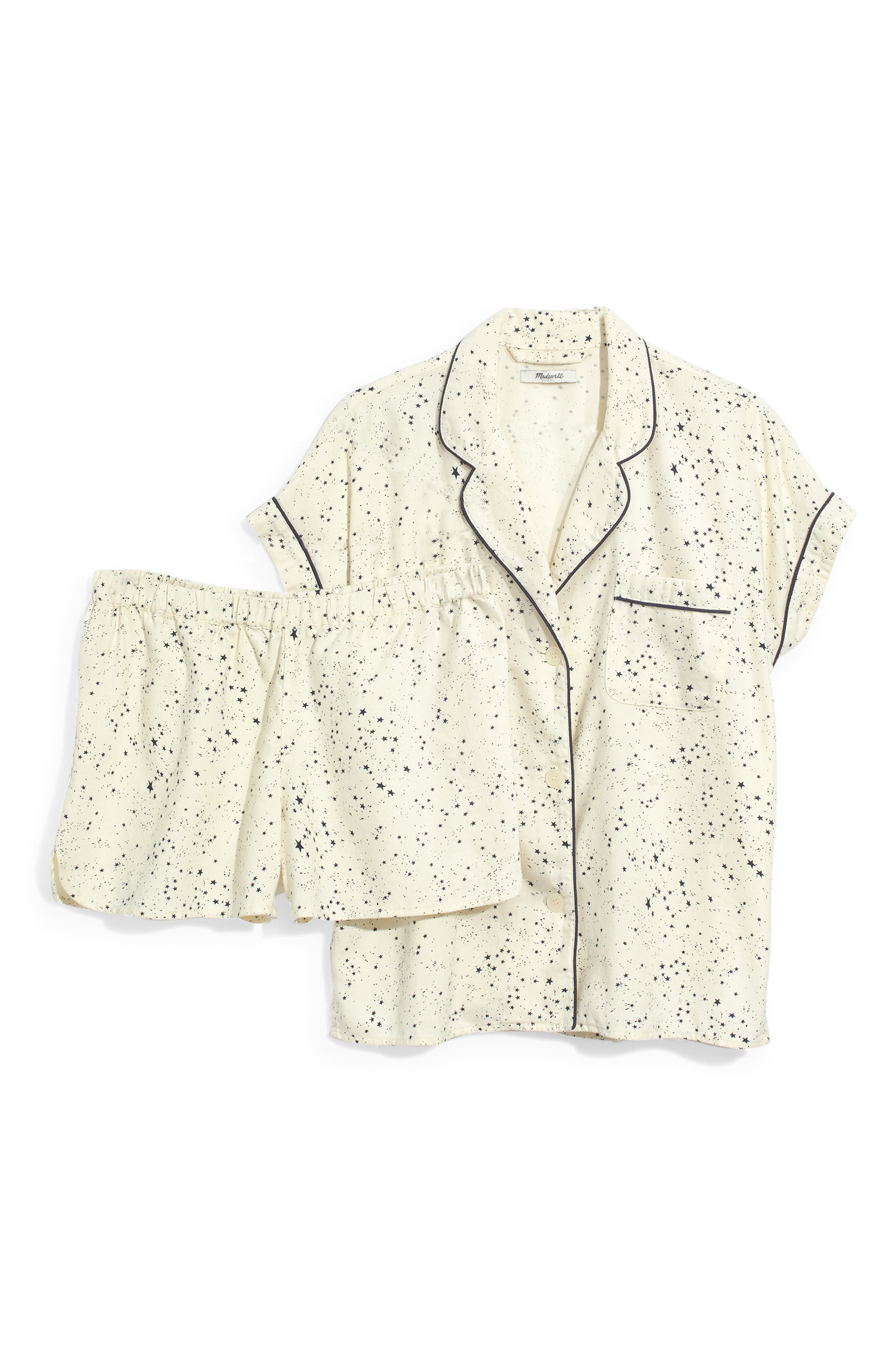 Flannel Bedtime Pajamas,                             Alternate thumbnail 3, color,                             PEARL IVORY