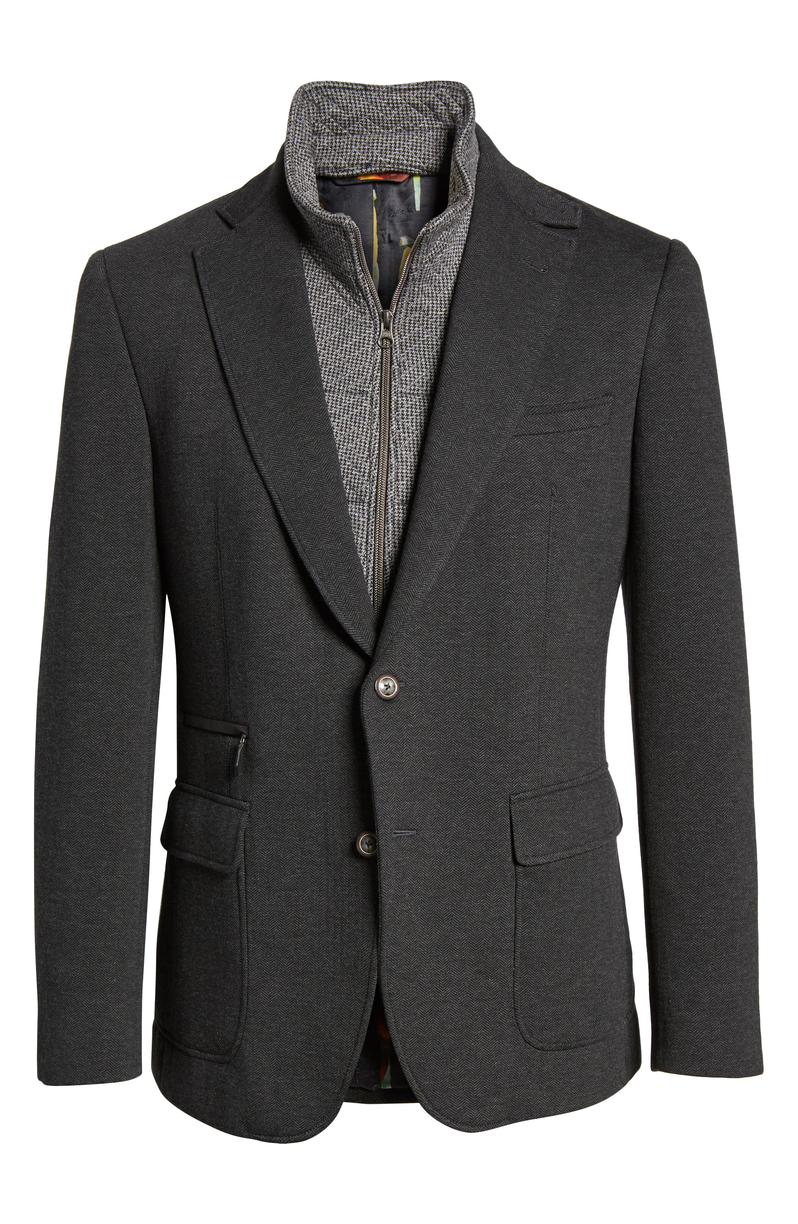 Downhill Tailored Fit Sport Coat,                             Alternate thumbnail 5, color,                             020