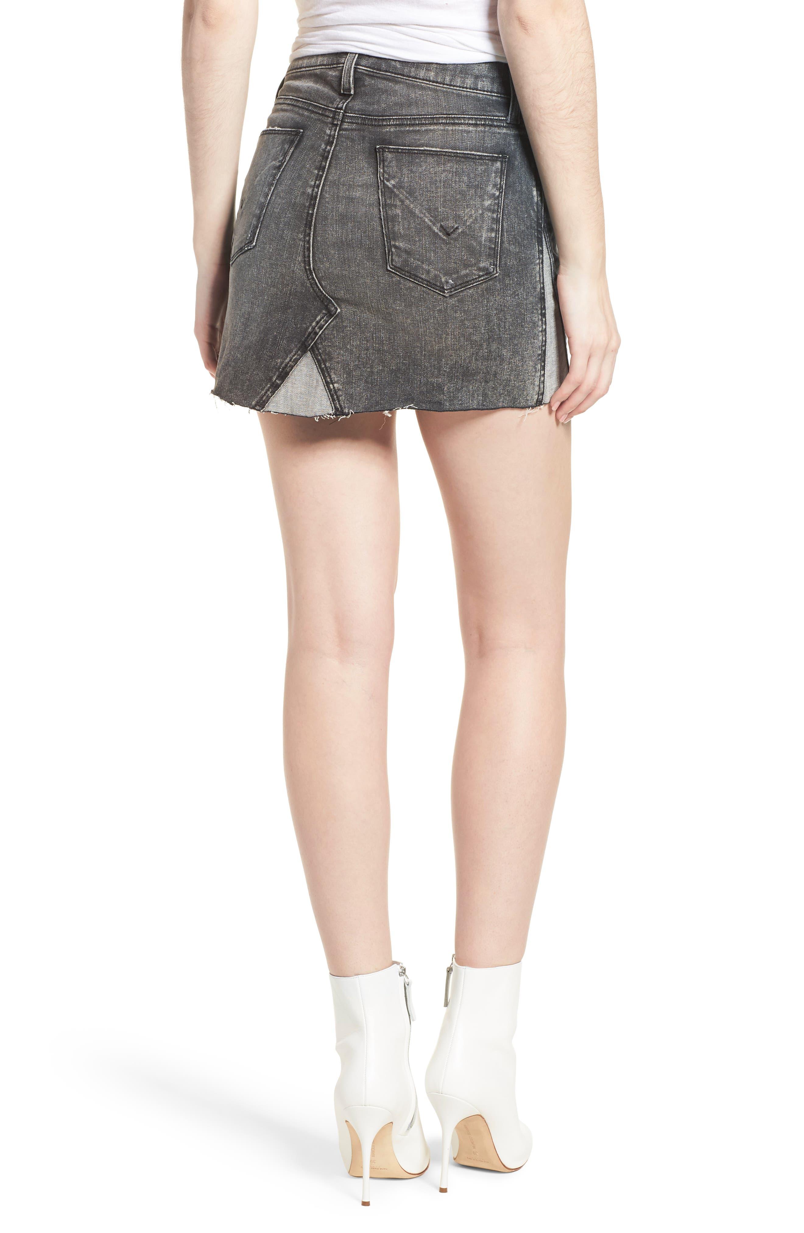 The Viper Cutoff Denim Miniskirt,                             Alternate thumbnail 2, color,                             OLD SCHOOL