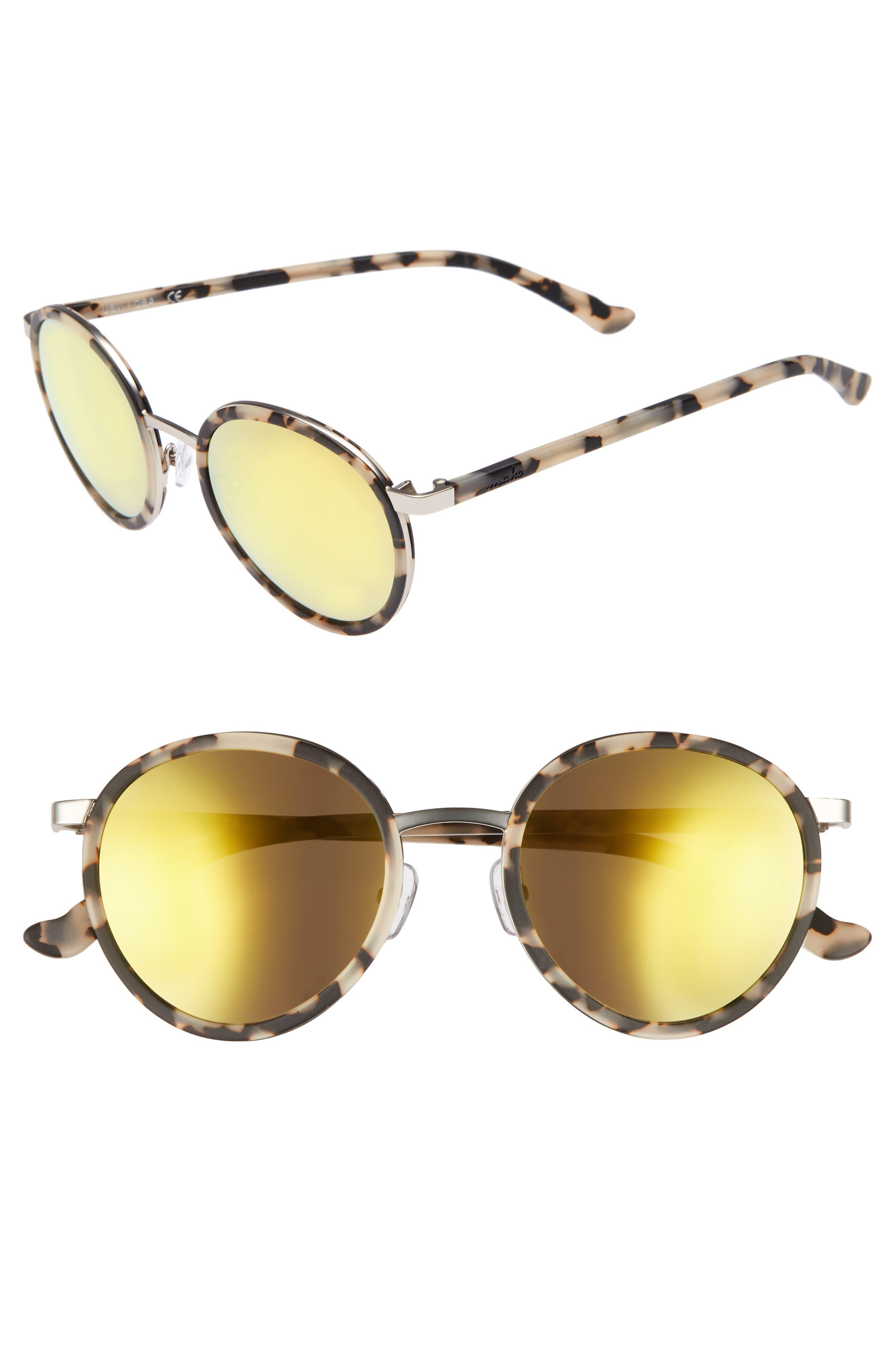 Cabo 50mm Polarized Round Sunglasses,                             Main thumbnail 2, color,