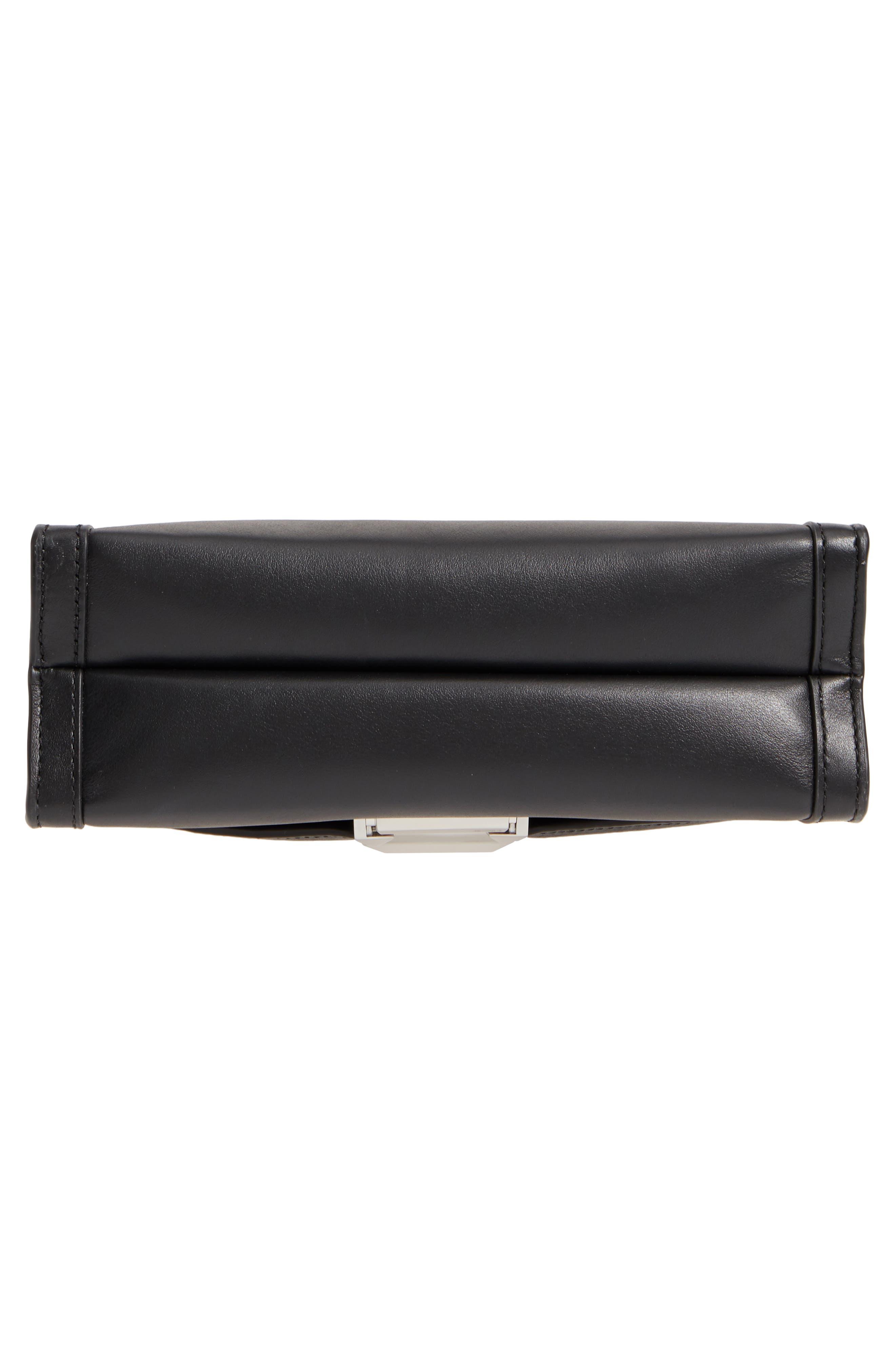 Large Whitney Leather Shoulder Bag,                             Alternate thumbnail 6, color,                             BLACK