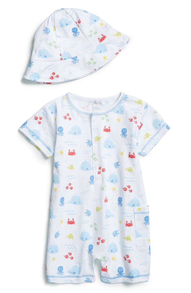 Kissy Kissy  Ocean Wonder  Pima Cotton Romper   Hat (Baby Boys ... 3ed779f0ec8a