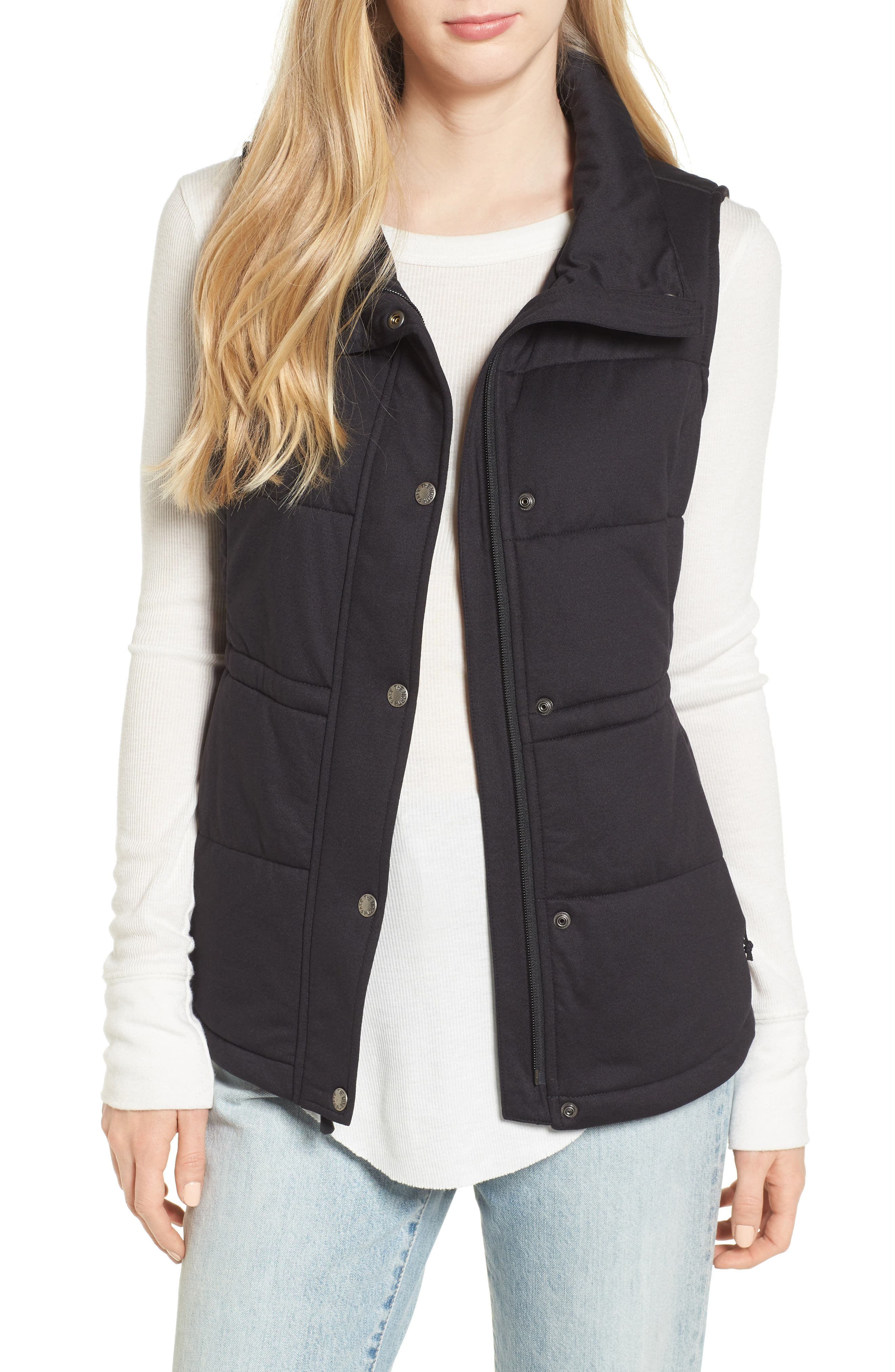 'Pseudio' Quilted Vest,                         Main,                         color, 003
