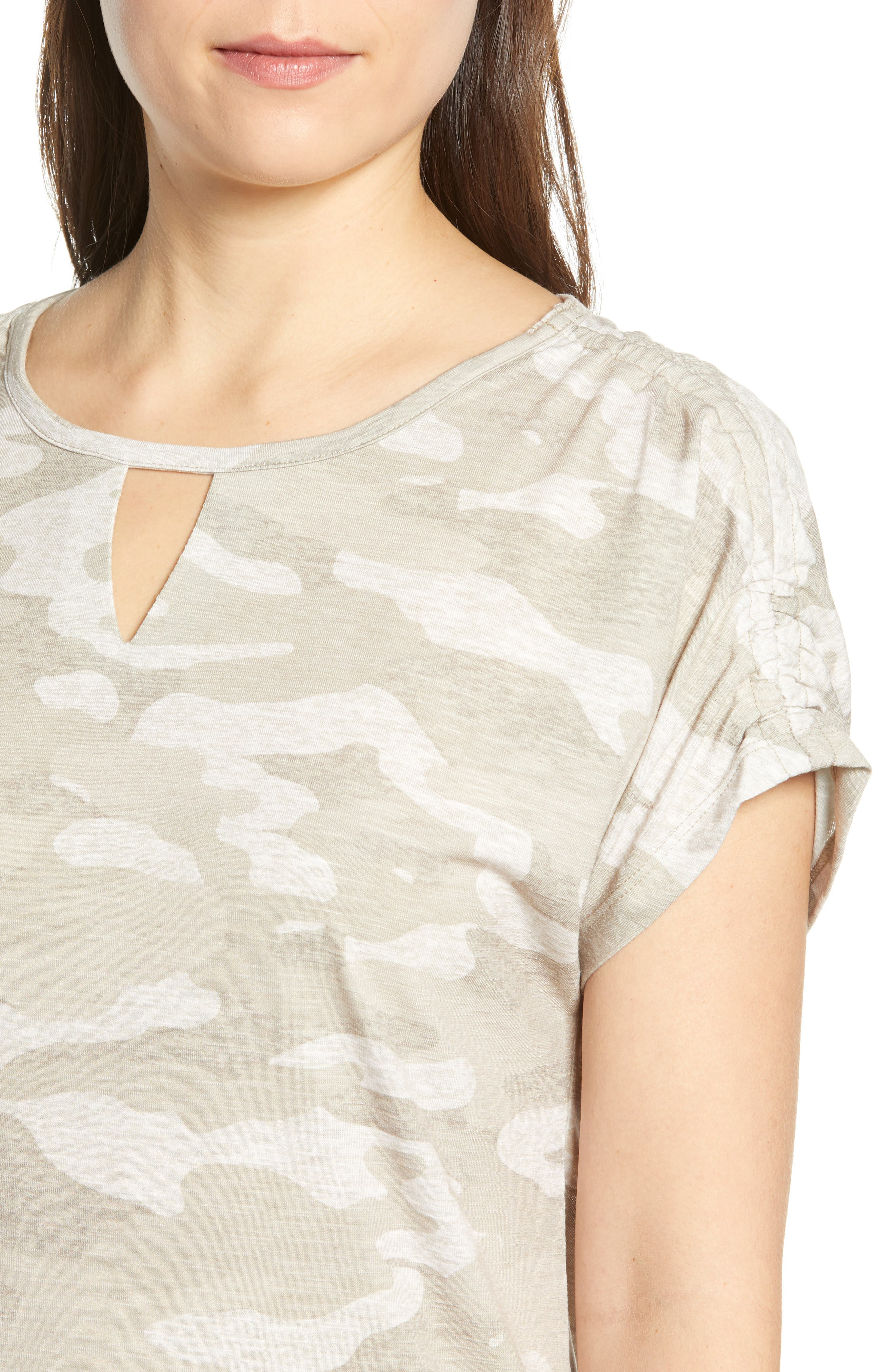 Scoop Neck Tee,                             Alternate thumbnail 4, color,                             TAN