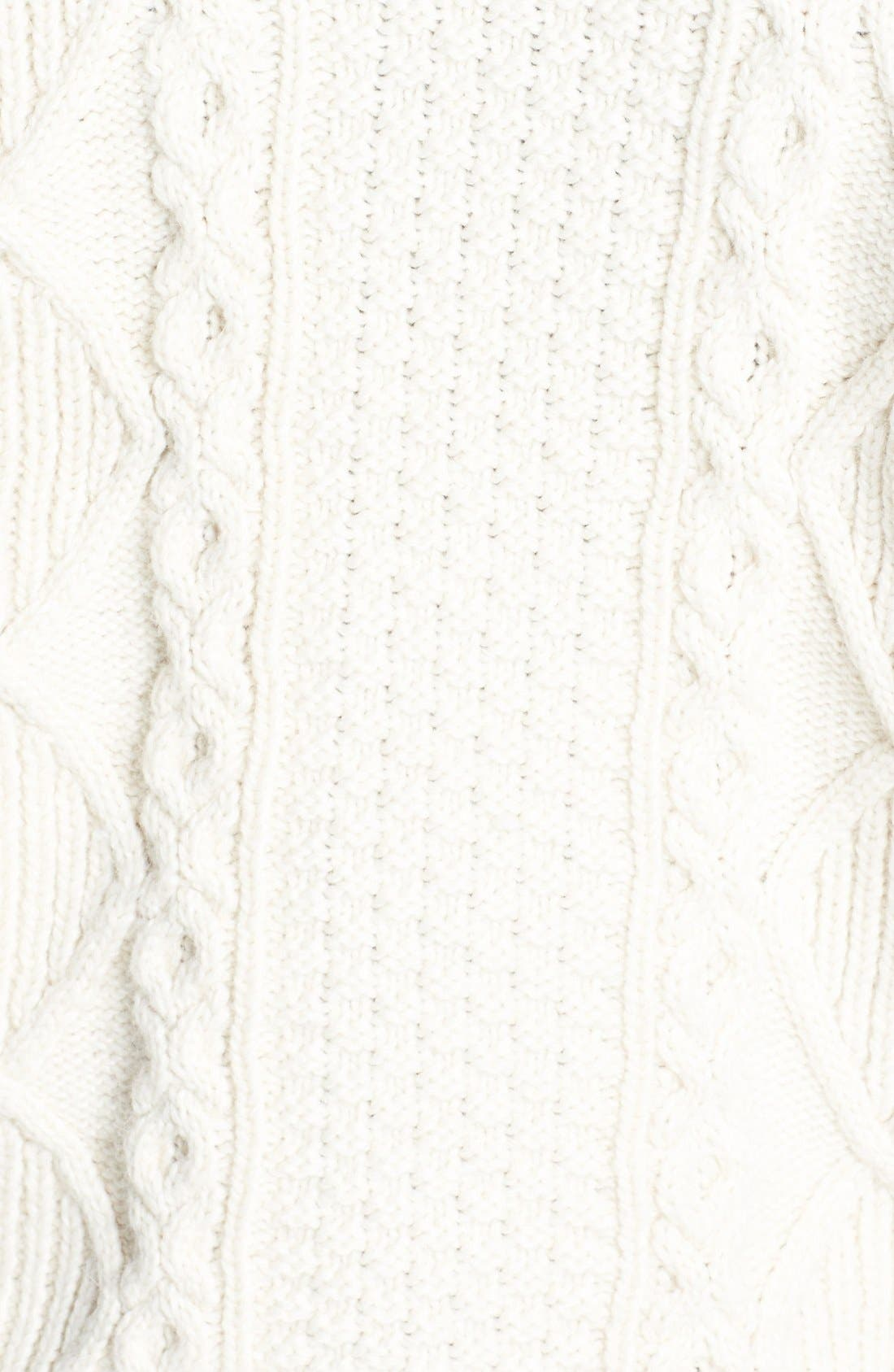 Cable Knit Boxy Sweater,                             Alternate thumbnail 4, color,                             900