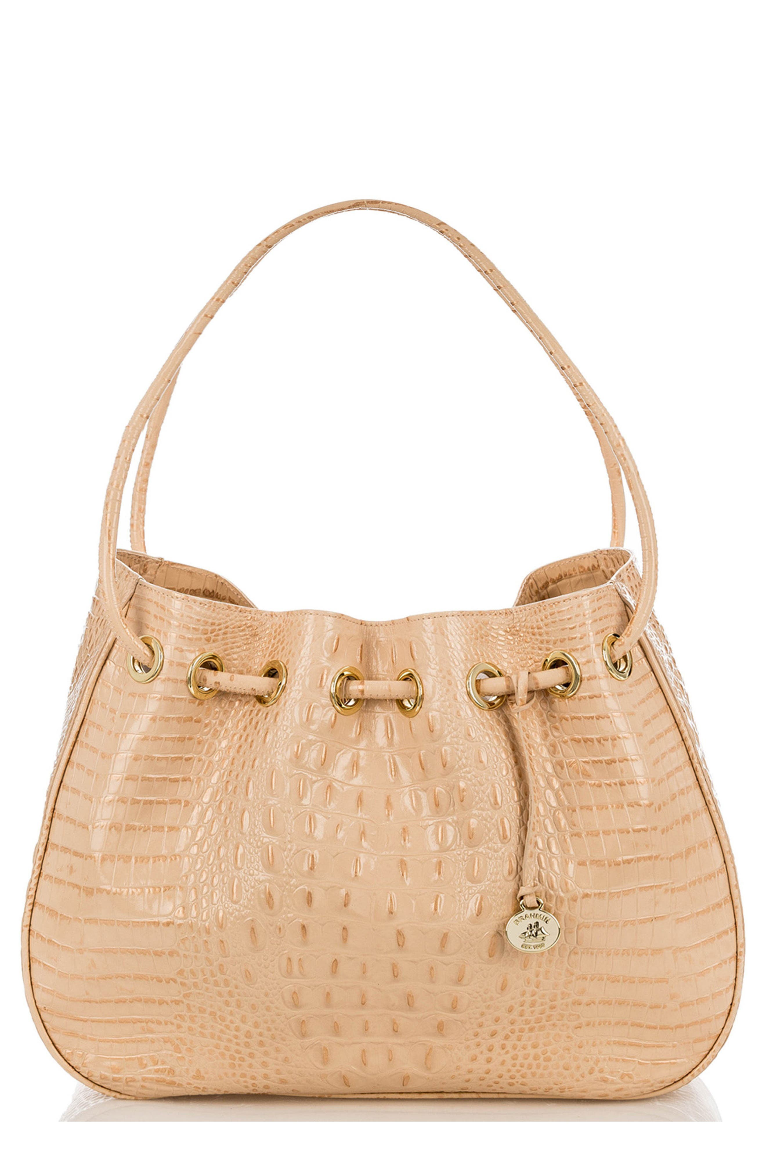 Amy Embossed Leather Drawstring Bucket Bag,                             Main thumbnail 2, color,