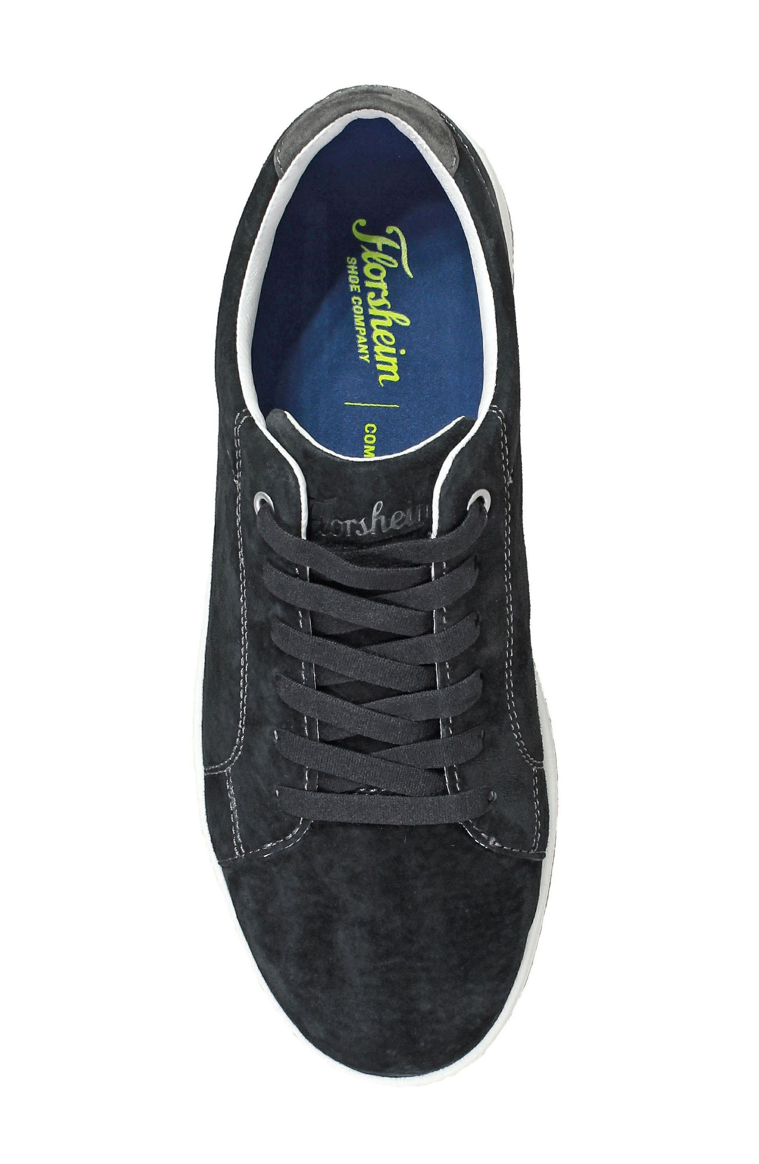 Edge Low Top Sneaker,                             Alternate thumbnail 5, color,                             BLACK NUBUCK