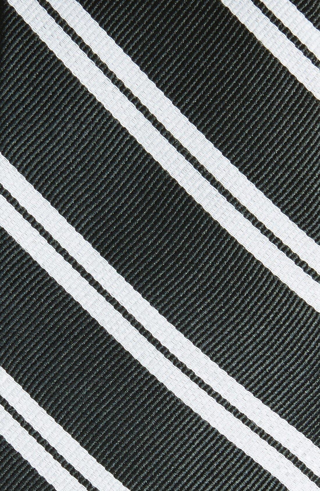 'Morrison Stripe' Woven Silk & Cotton Tie,                             Alternate thumbnail 2, color,                             001