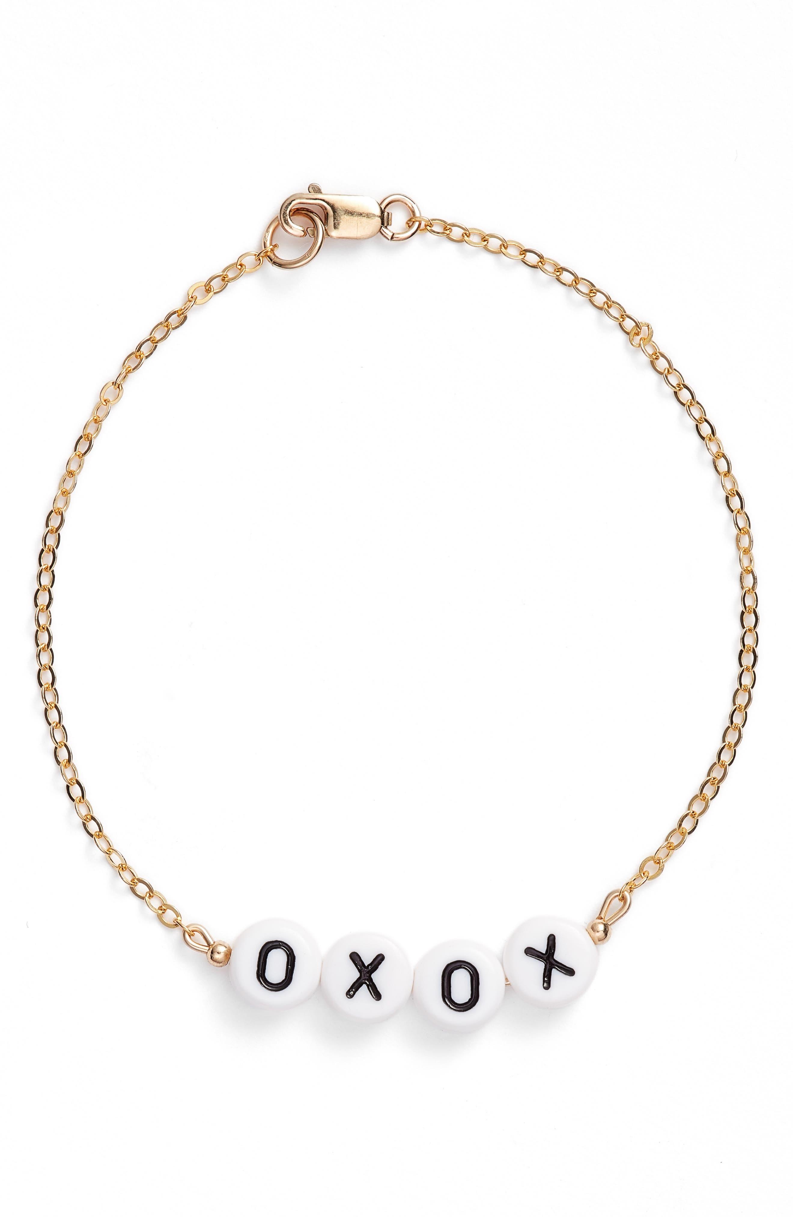 Beaded Message Chain Bracelet,                             Main thumbnail 3, color,