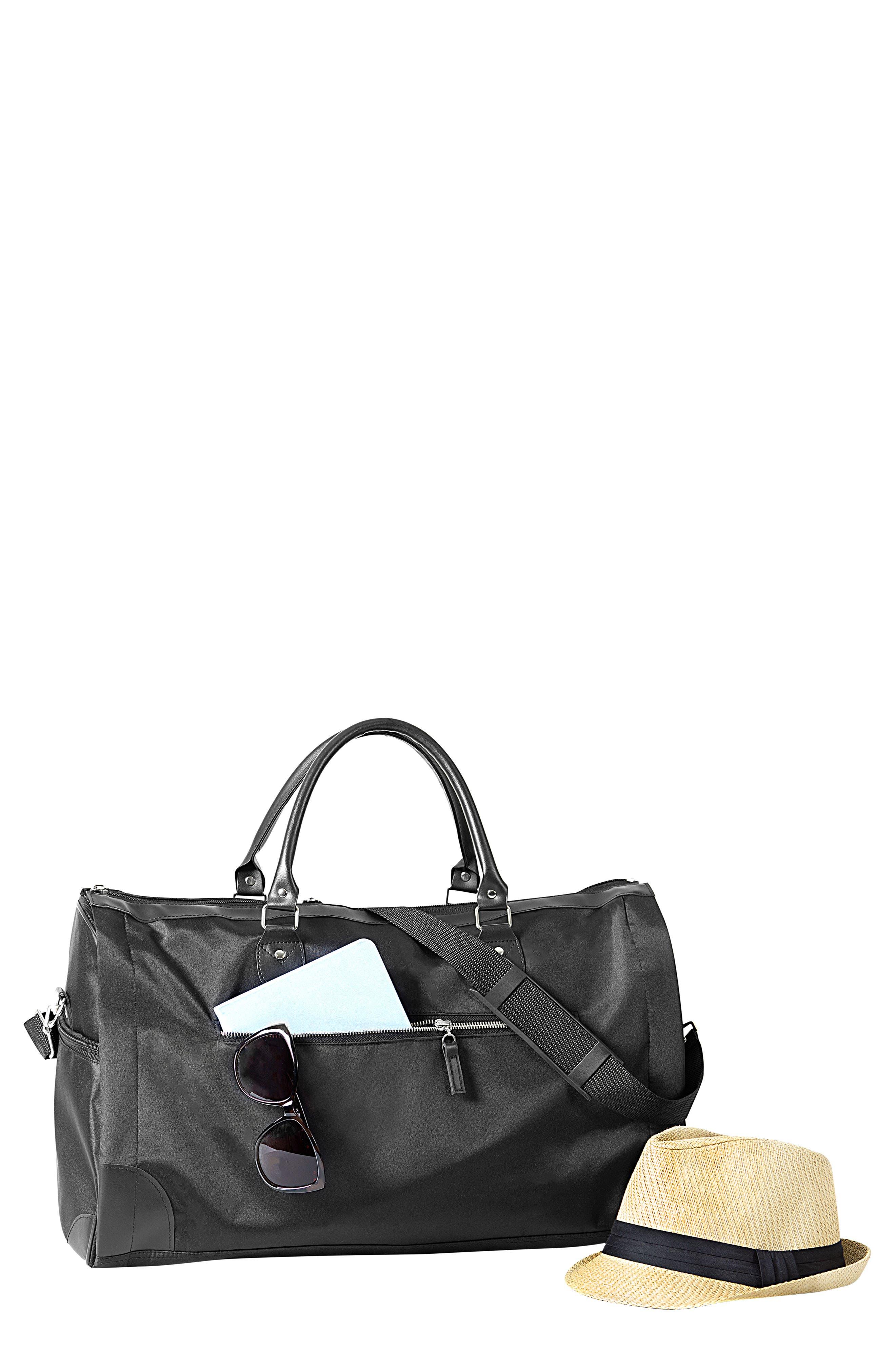 Monogram Duffel/Garment Bag, Main, color, BLACK